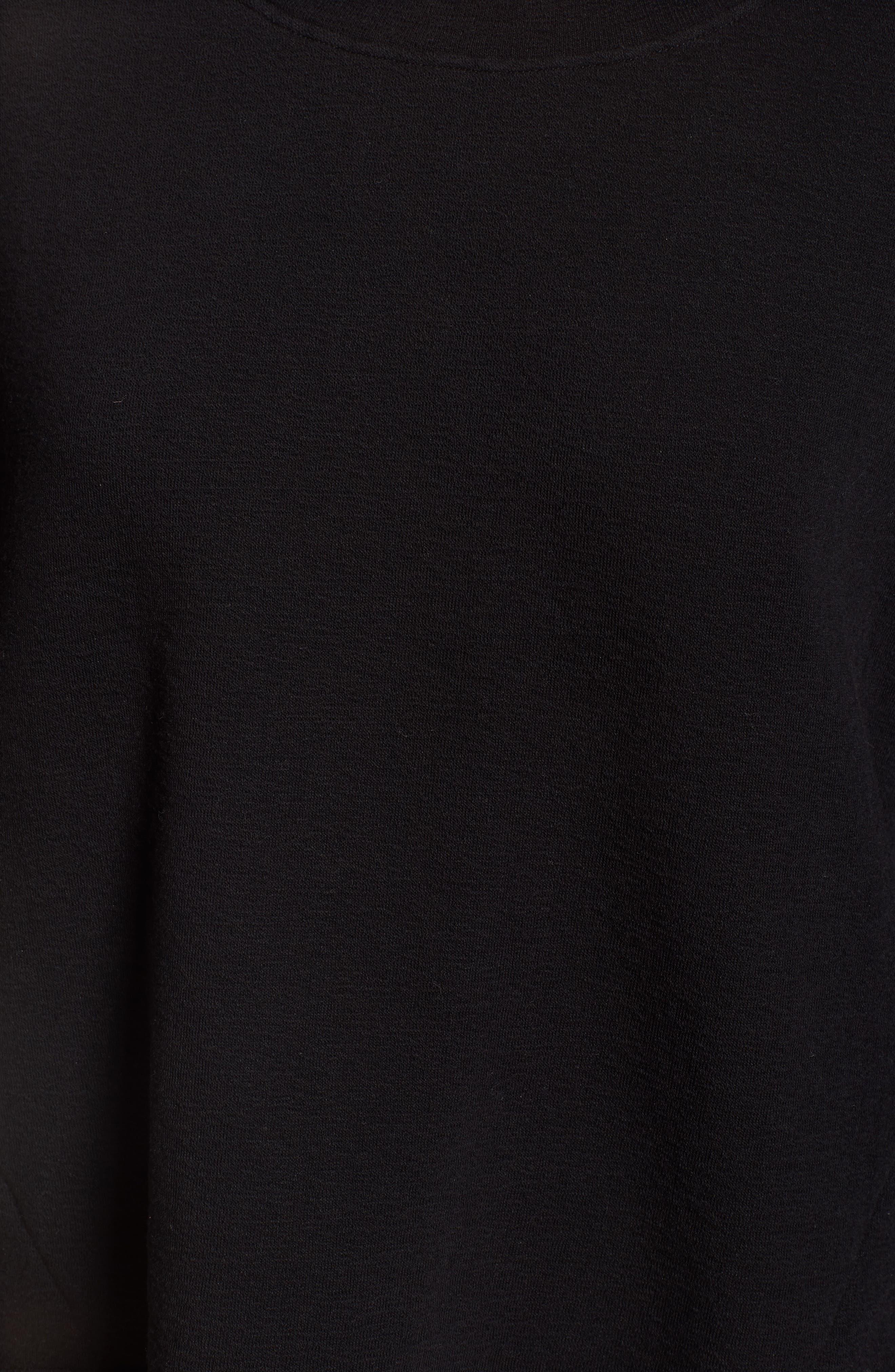 CASLON<SUP>®</SUP>,                             Side Slit Relaxed Sweatshirt,                             Alternate thumbnail 5, color,                             BLACK