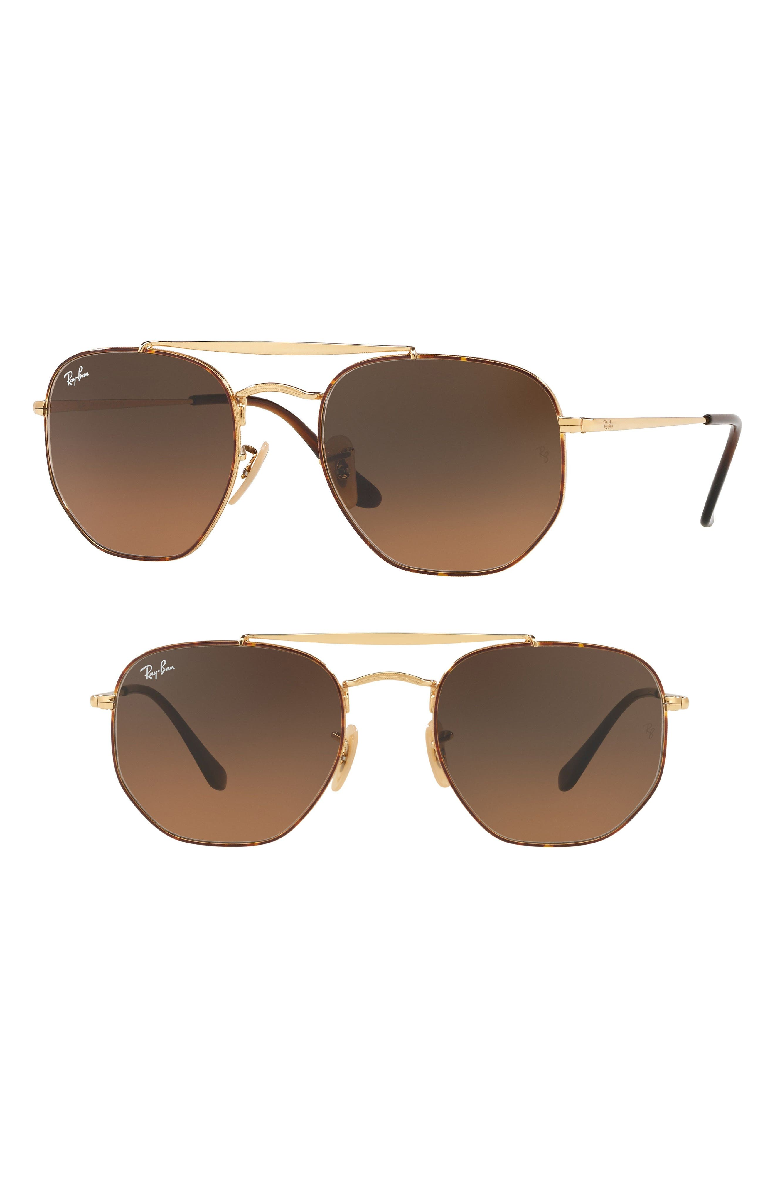 54mm Gradient Sunglasses,                         Main,                         color, HAVANA GRADIENT