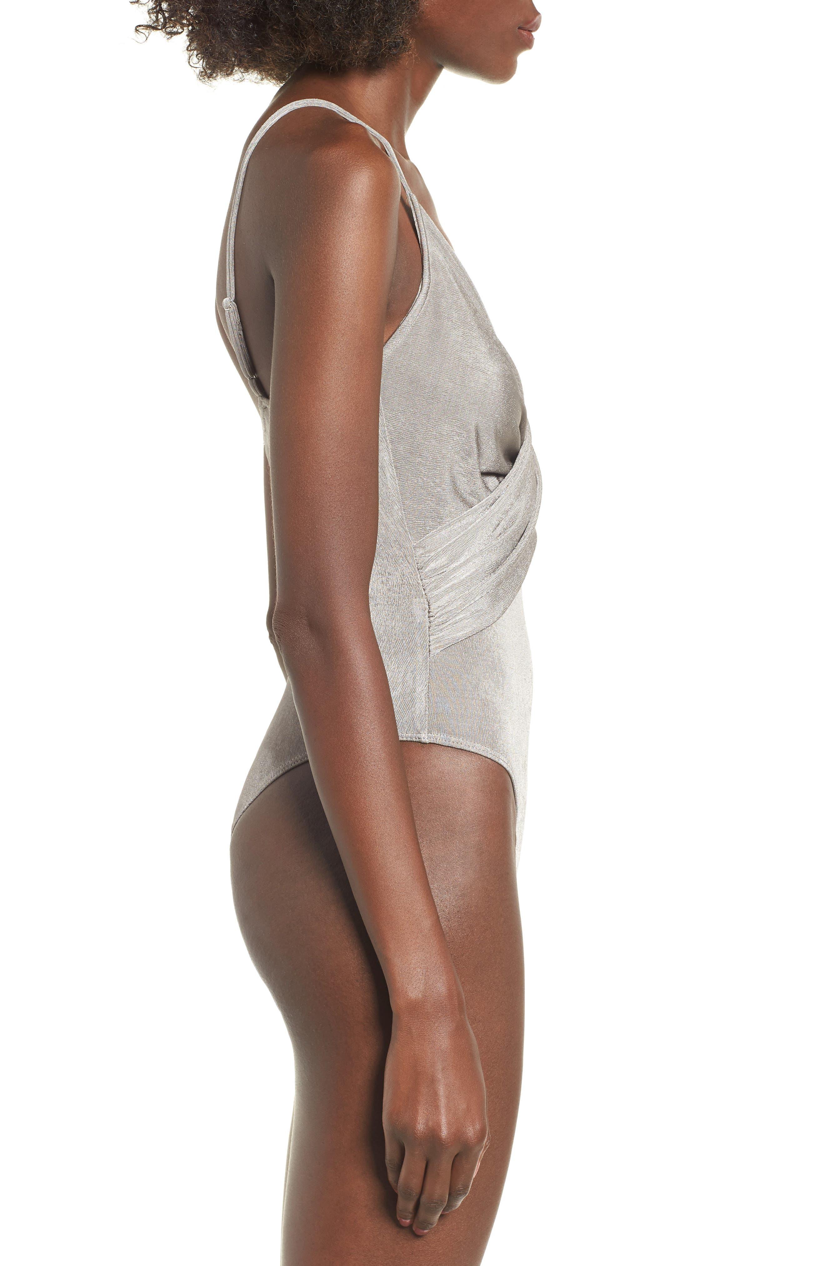 Twist Front Bodysuit,                             Alternate thumbnail 3, color,                             040