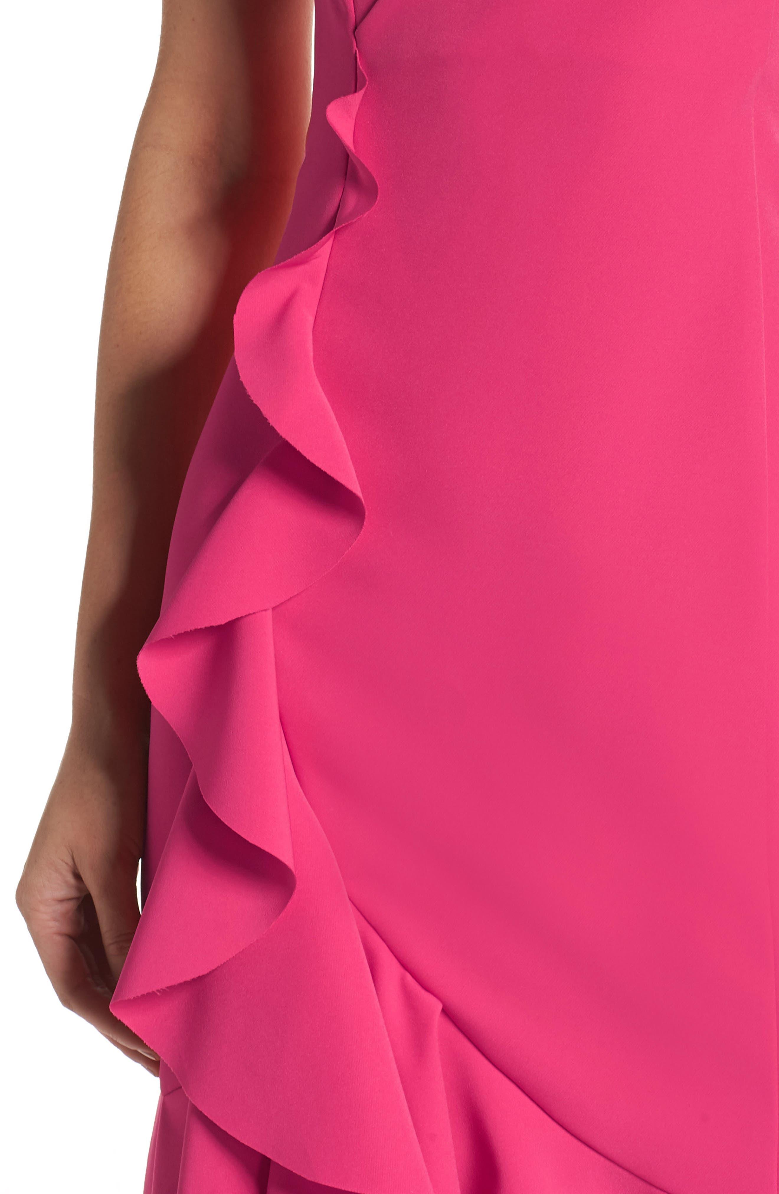 Laguna Ruffle Sheath Dress,                             Alternate thumbnail 4, color,                             660