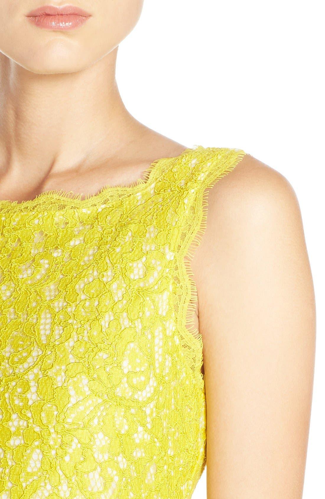 Boatneck Lace Sheath Dress,                             Alternate thumbnail 92, color,