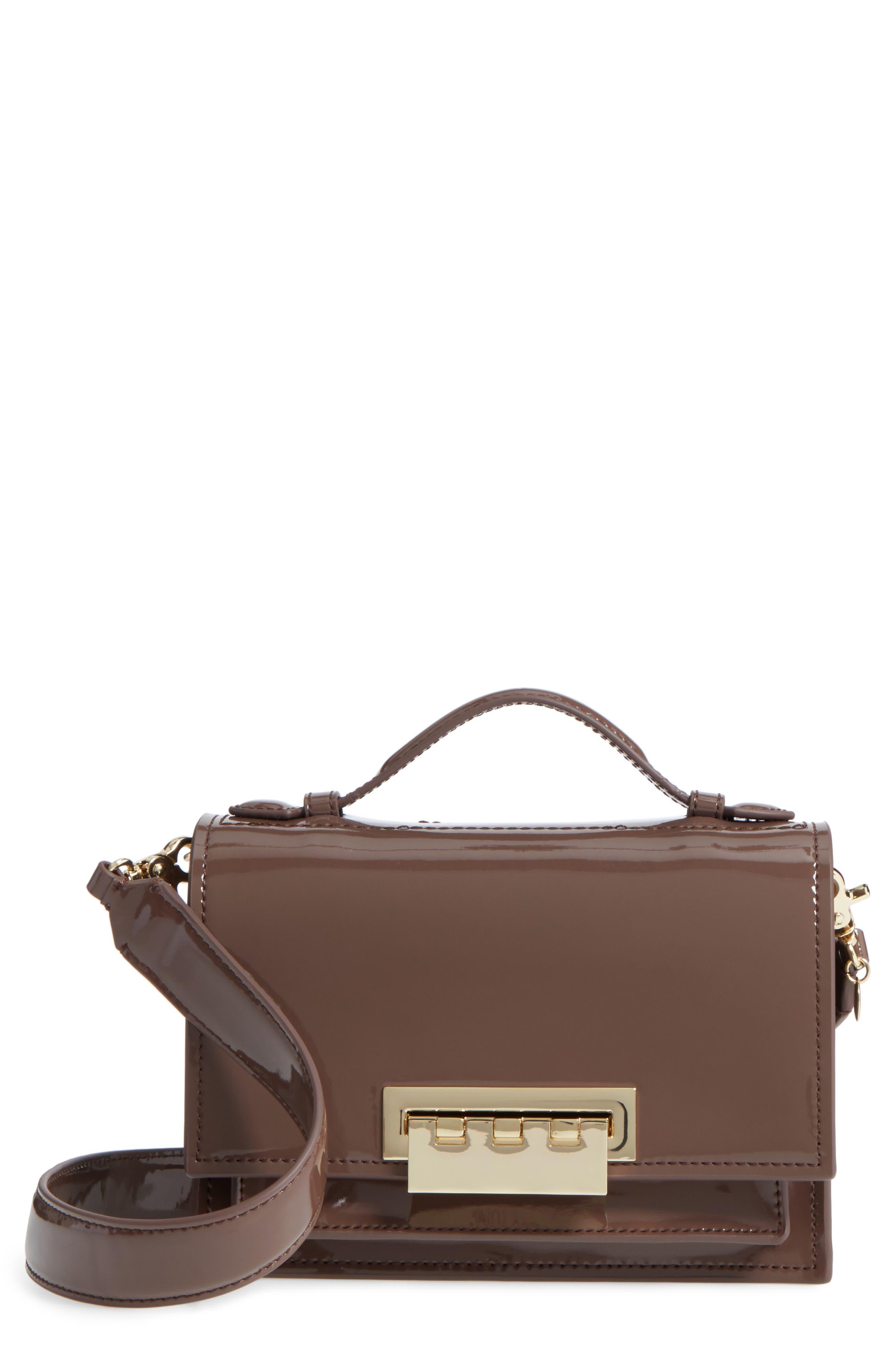 Earthette Patent Leather Accordion Bag,                         Main,                         color, 202