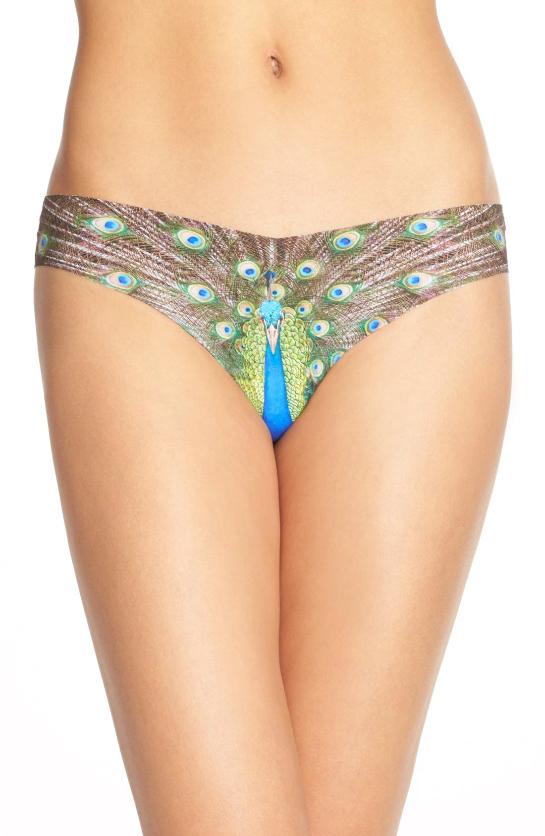 Print Microfiber Thong,                             Main thumbnail 57, color,