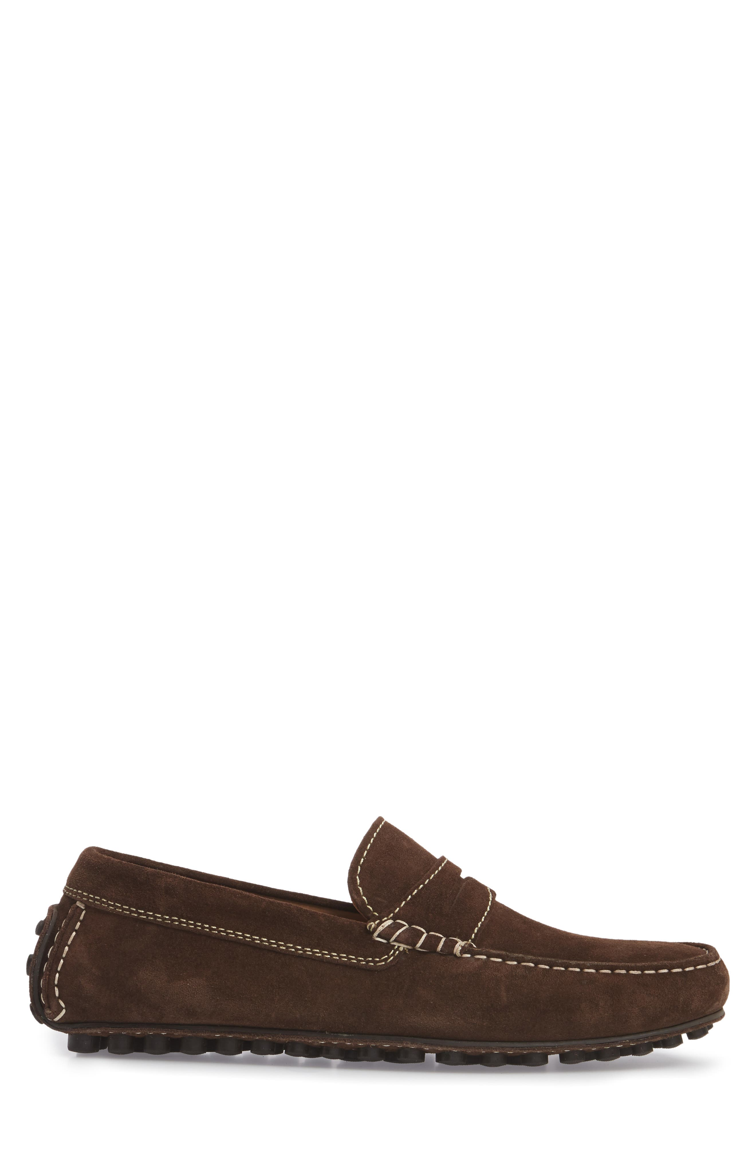 Le Mans Penny Driving Loafer,                             Alternate thumbnail 3, color,                             CHOCOLATE