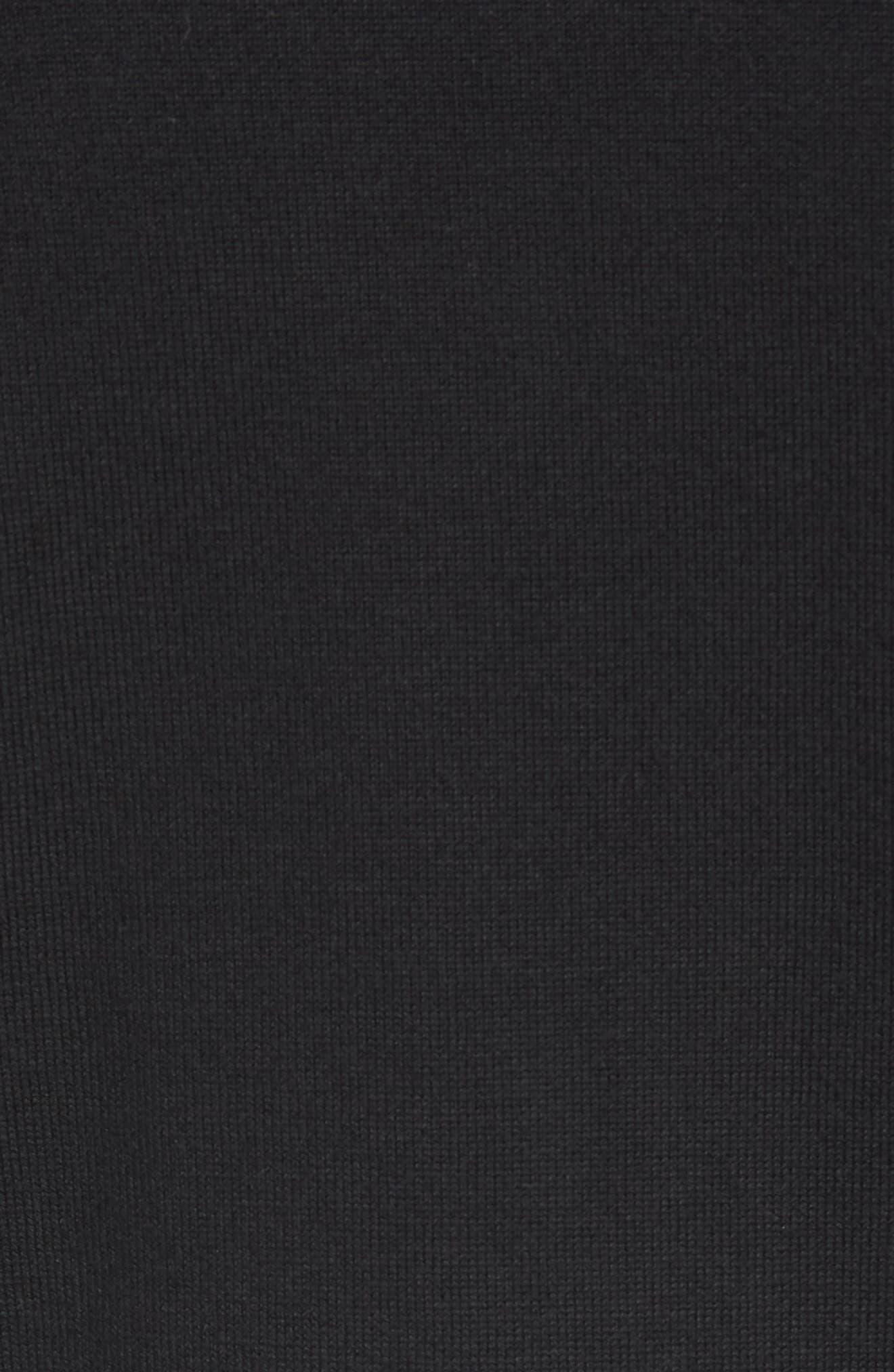 New York Jets - Lakemont Regular Fit Quarter Zip Sweater,                             Alternate thumbnail 5, color,                             BLACK