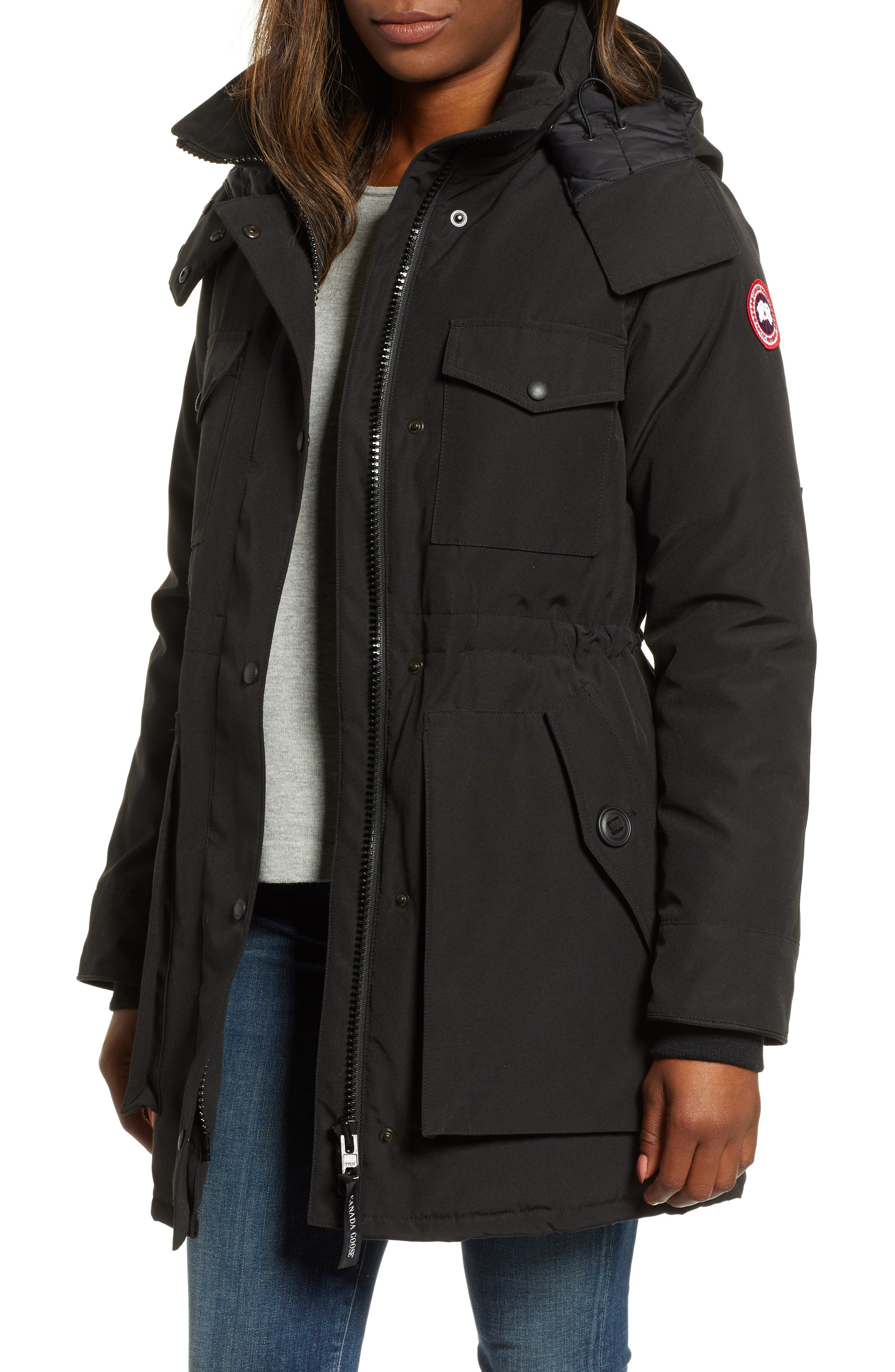 Canada Goose Gabriola Water Resistant Arctic Tech 625 Fill Power Down Parka, (10-12) - Black