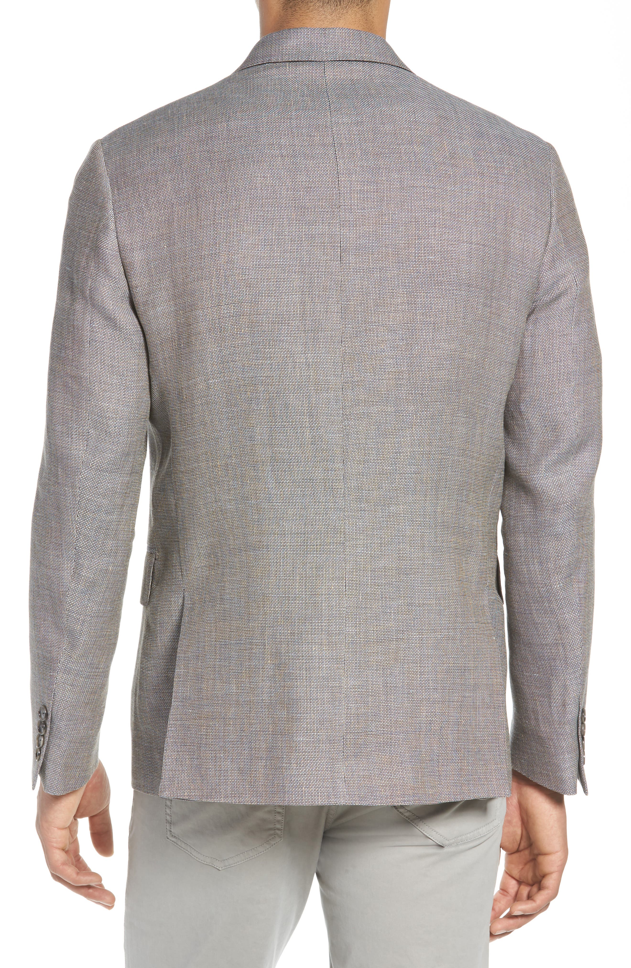 Traditional Fit Linen & Wool Sport Coat,                             Alternate thumbnail 2, color,                             210