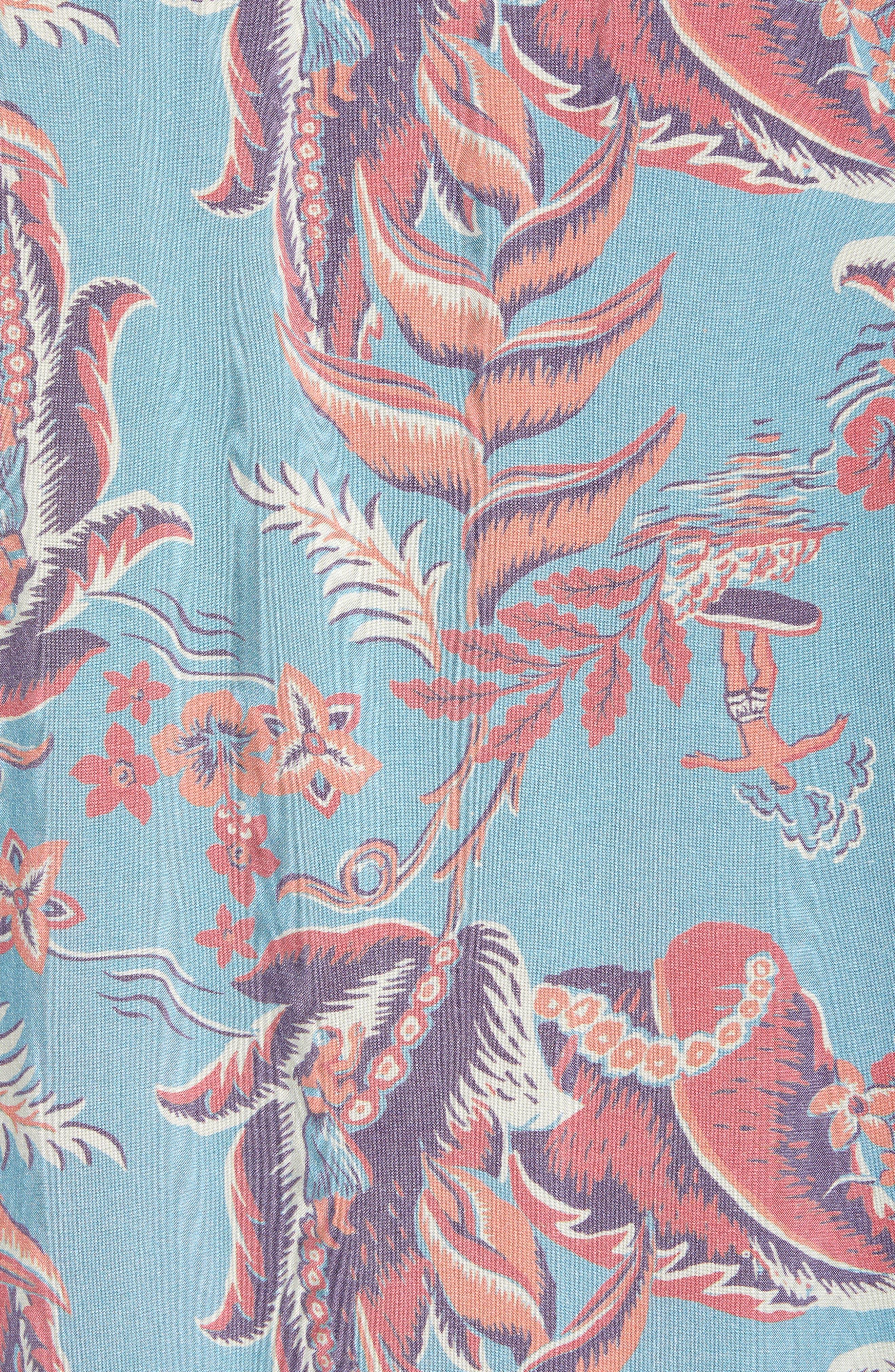 Hawaiian Print Sport Shirt,                             Alternate thumbnail 5, color,                             440
