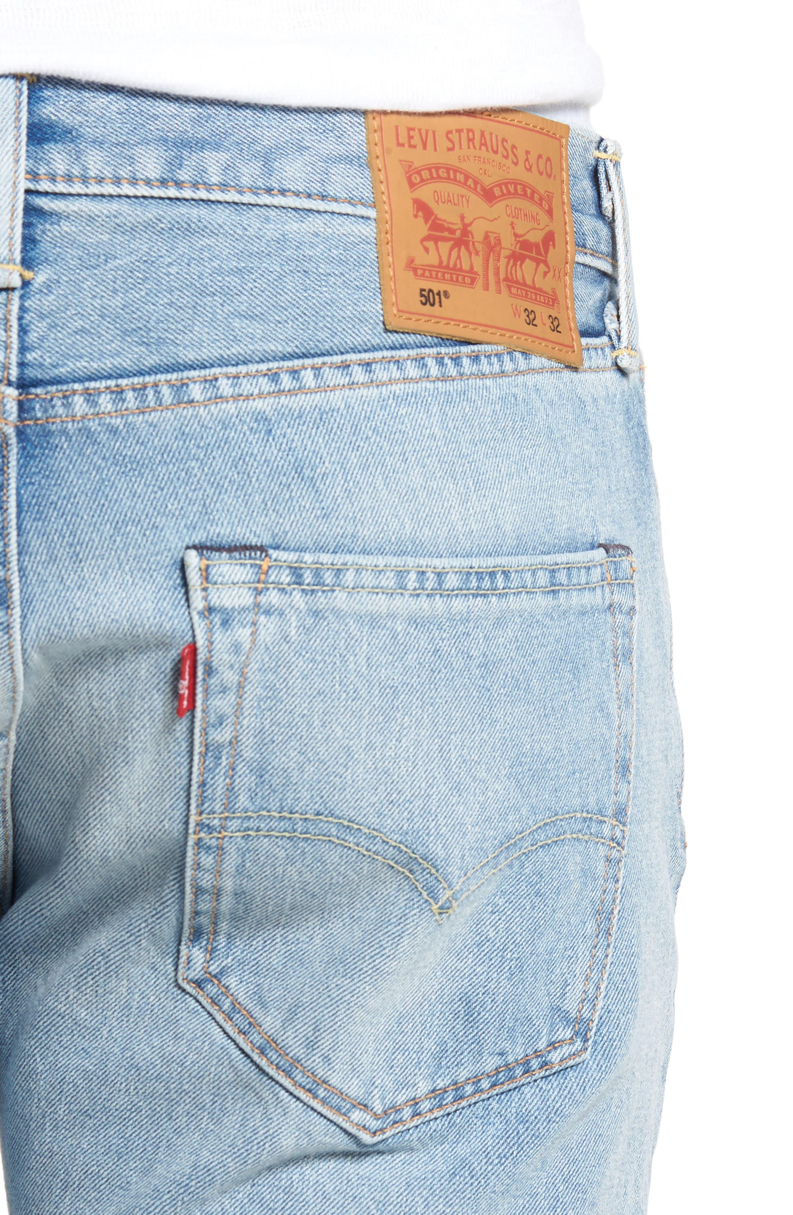 501<sup>™</sup> Slim Straight Leg Jeans,                             Alternate thumbnail 4, color,                             421