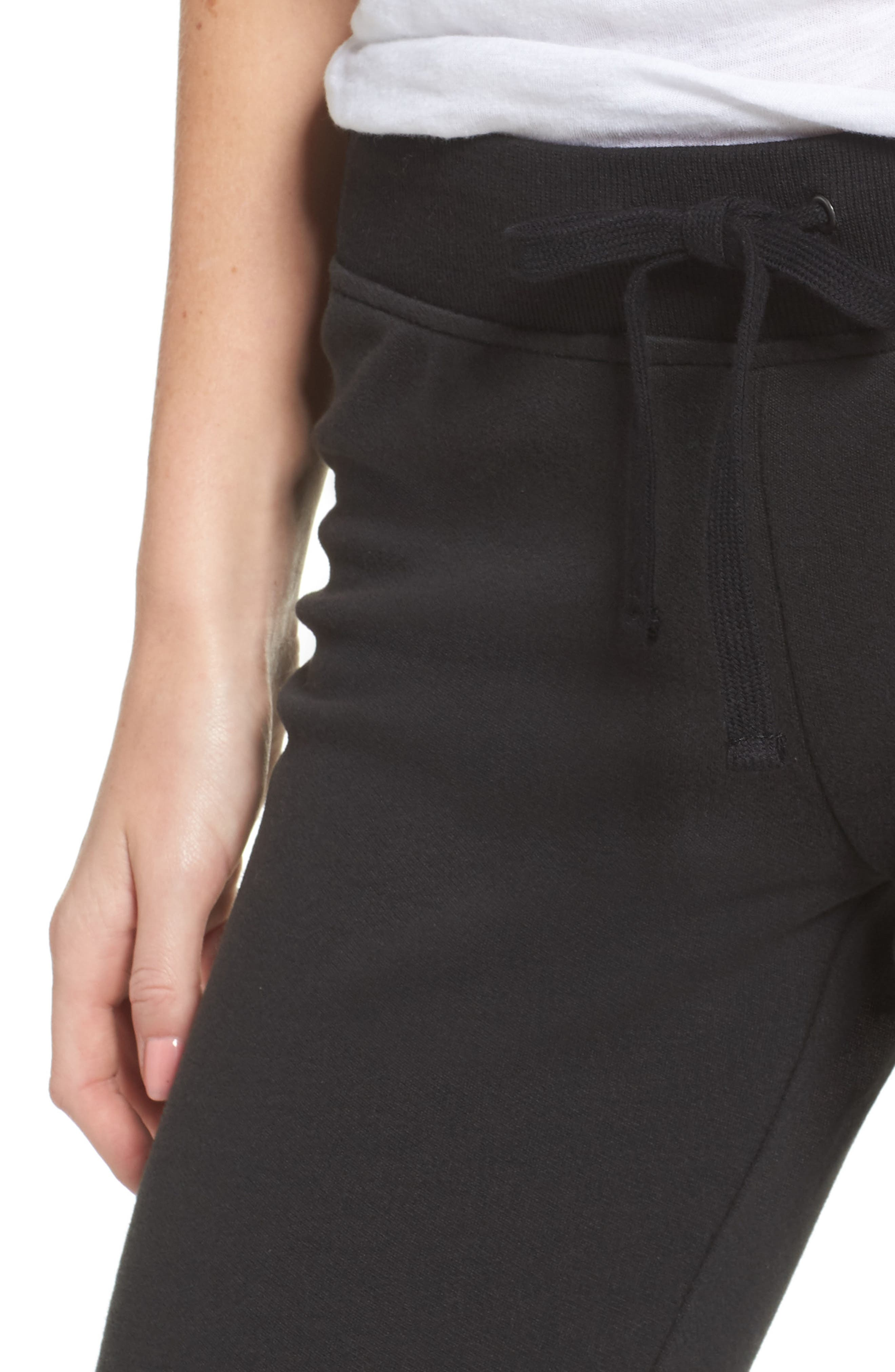 Penny Lounge Pants,                             Alternate thumbnail 4, color,                             BLACK