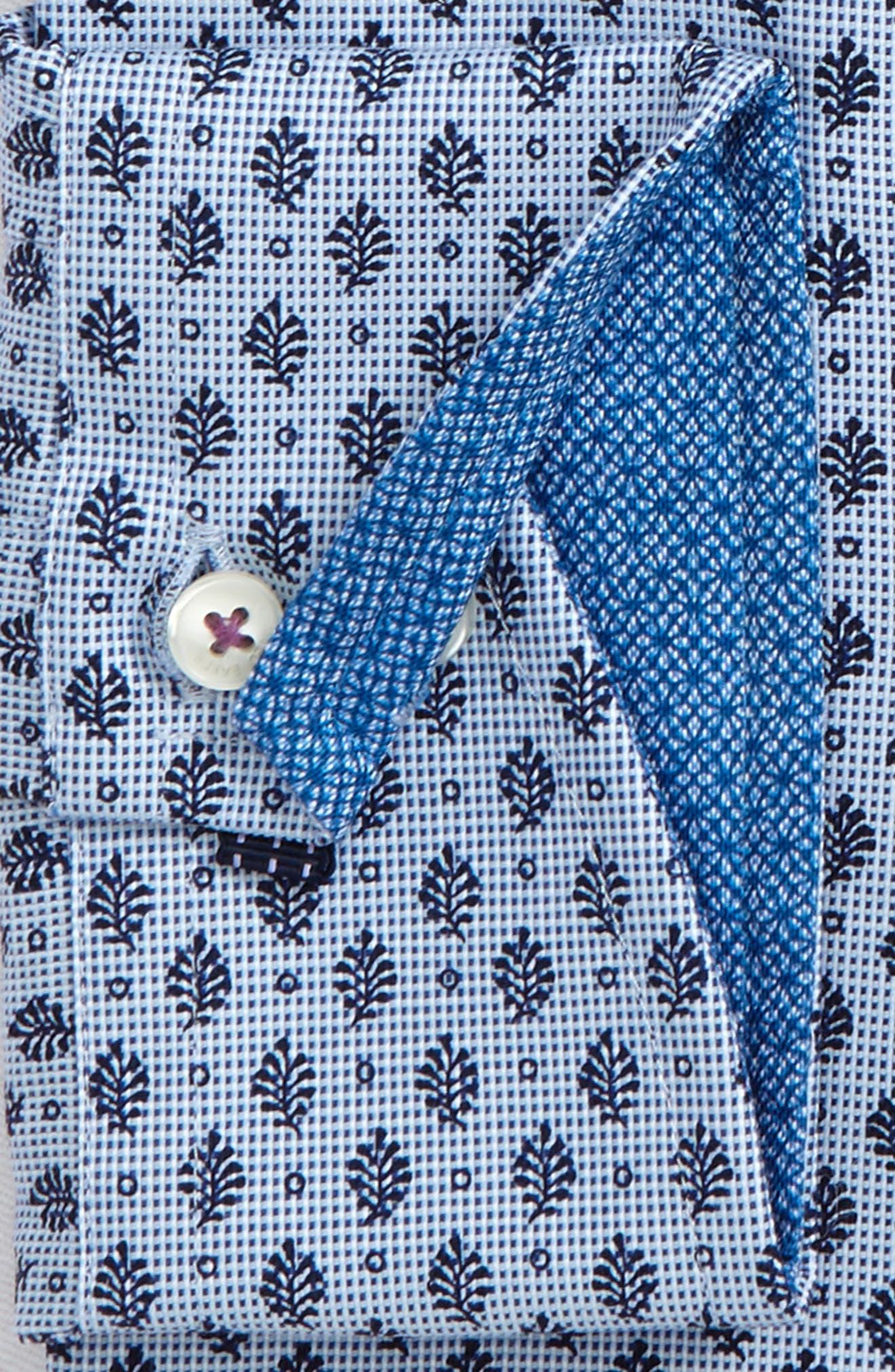 Endurance Begbie Trim Fit Print Dress Shirt,                             Alternate thumbnail 2, color,                             BLUE