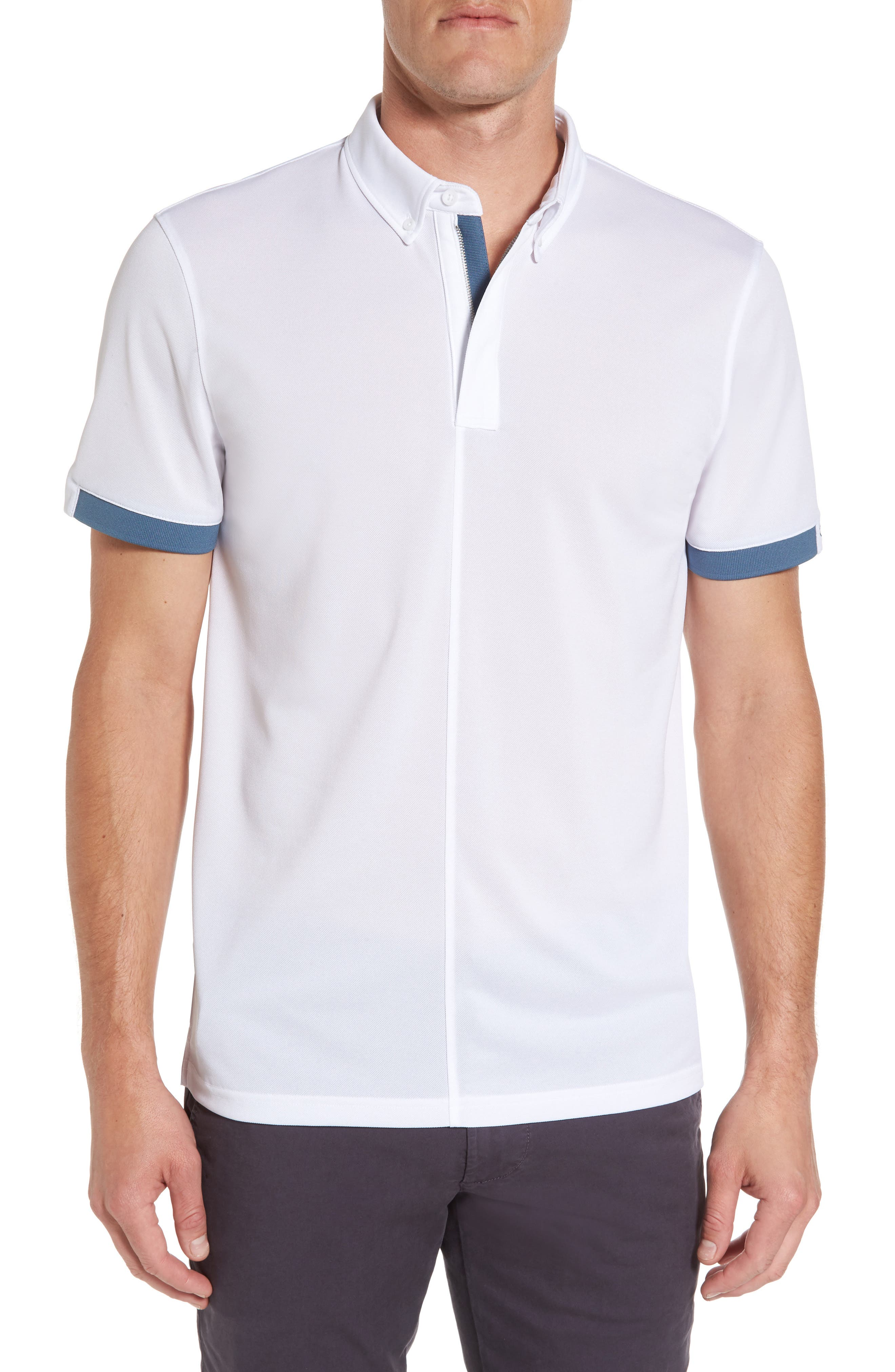 Eastridge Zip Placket Polo,                         Main,                         color,