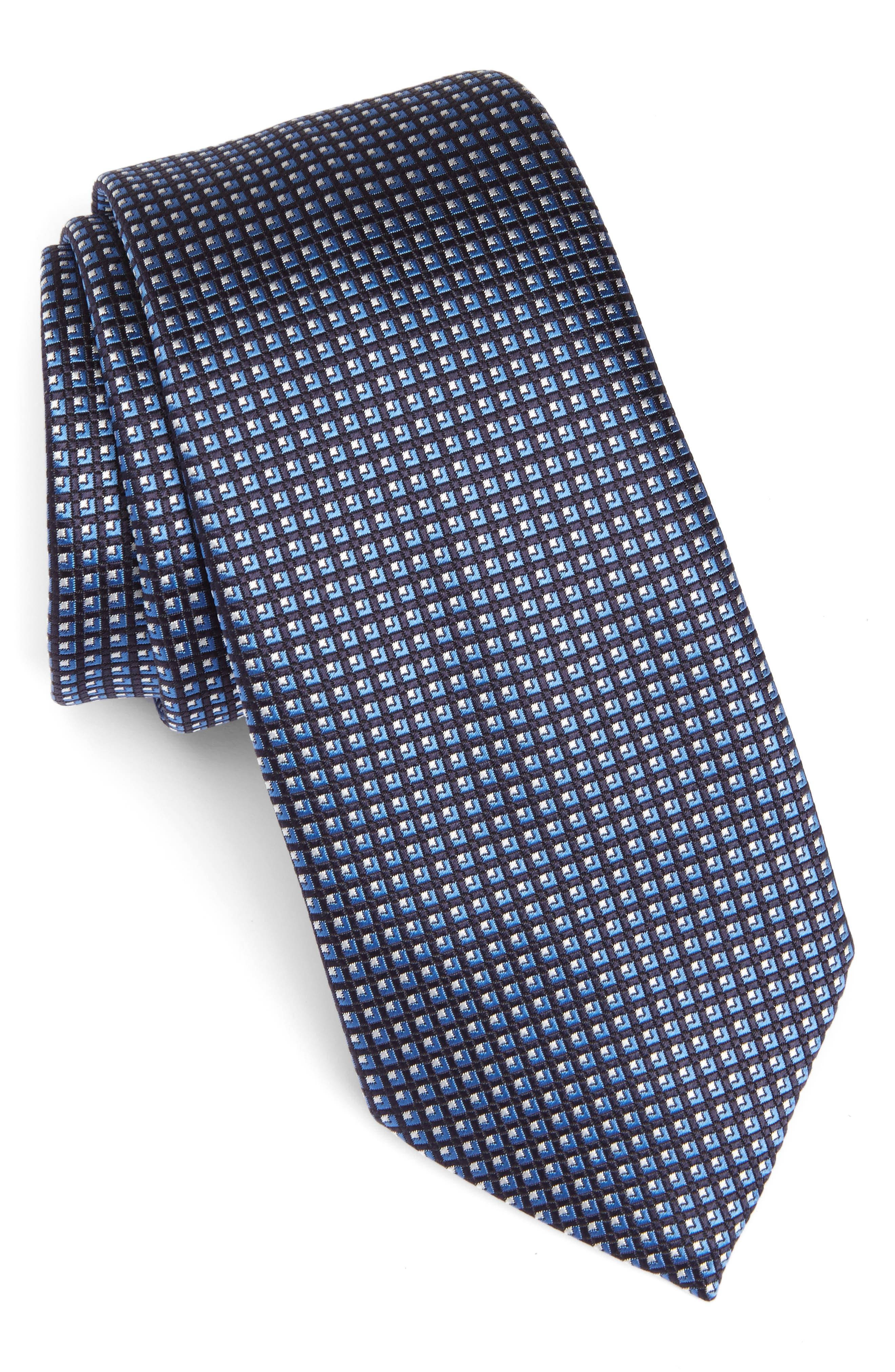 Geometric Silk Tie,                         Main,                         color, 418