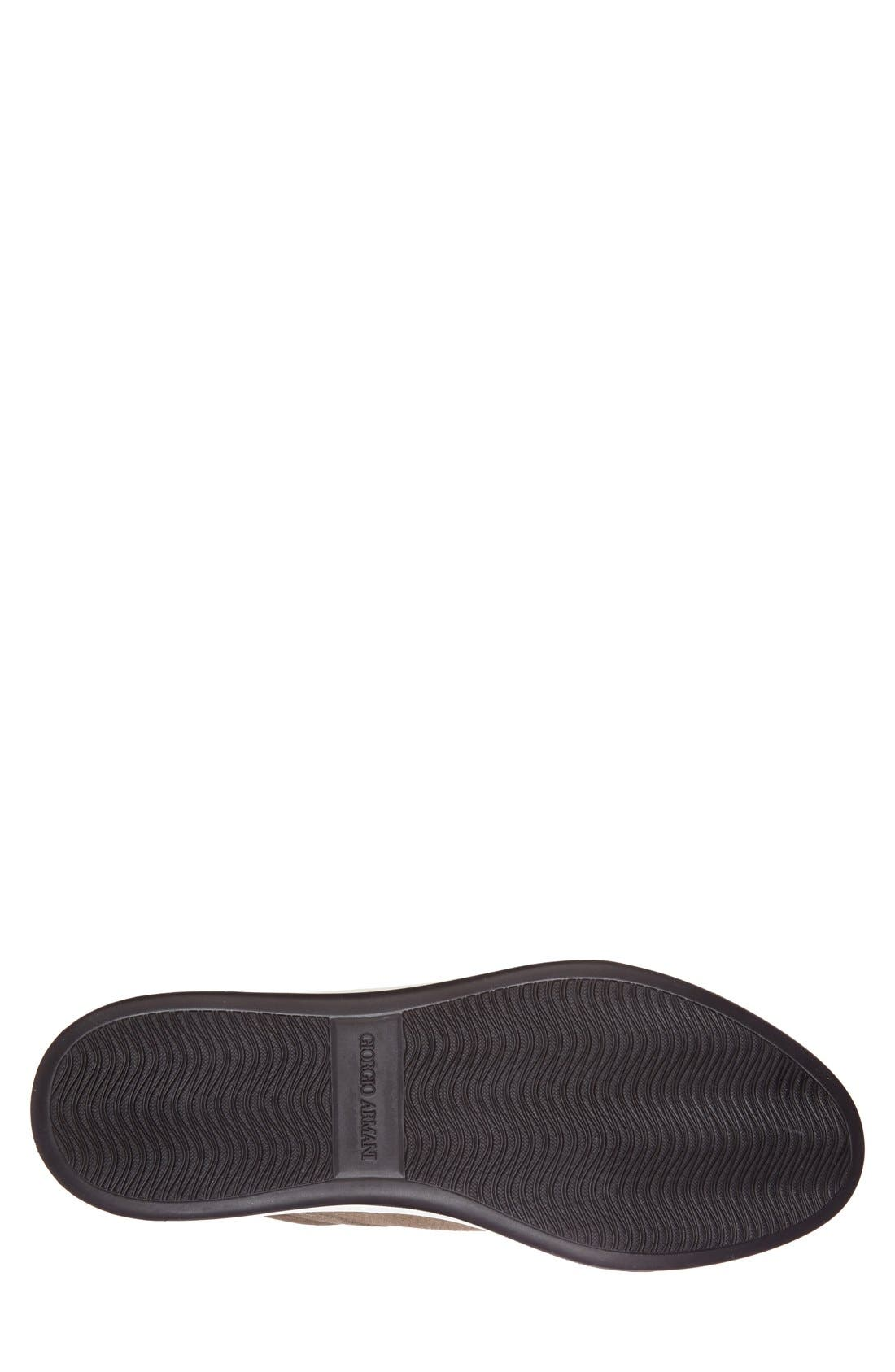 Perforated Suede Sneaker,                             Alternate thumbnail 3, color,                             260