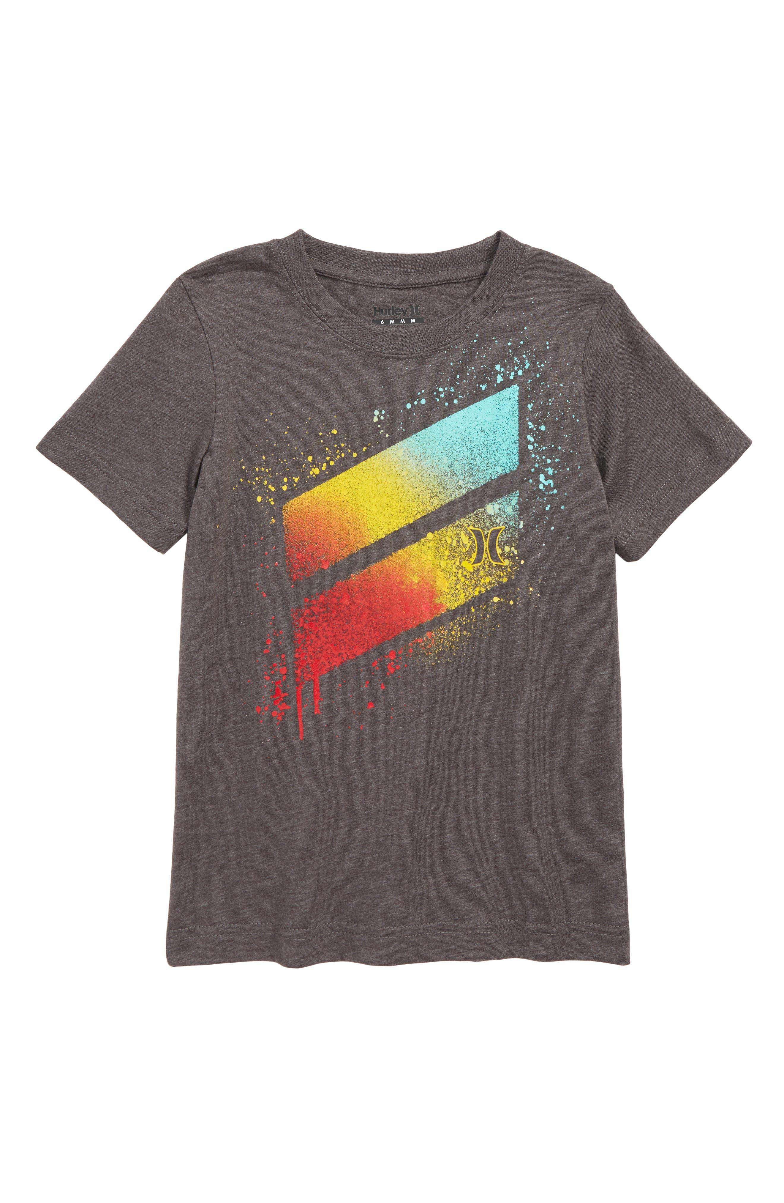 Spray Splash Graphic T-Shirt,                             Main thumbnail 1, color,                             BLACK