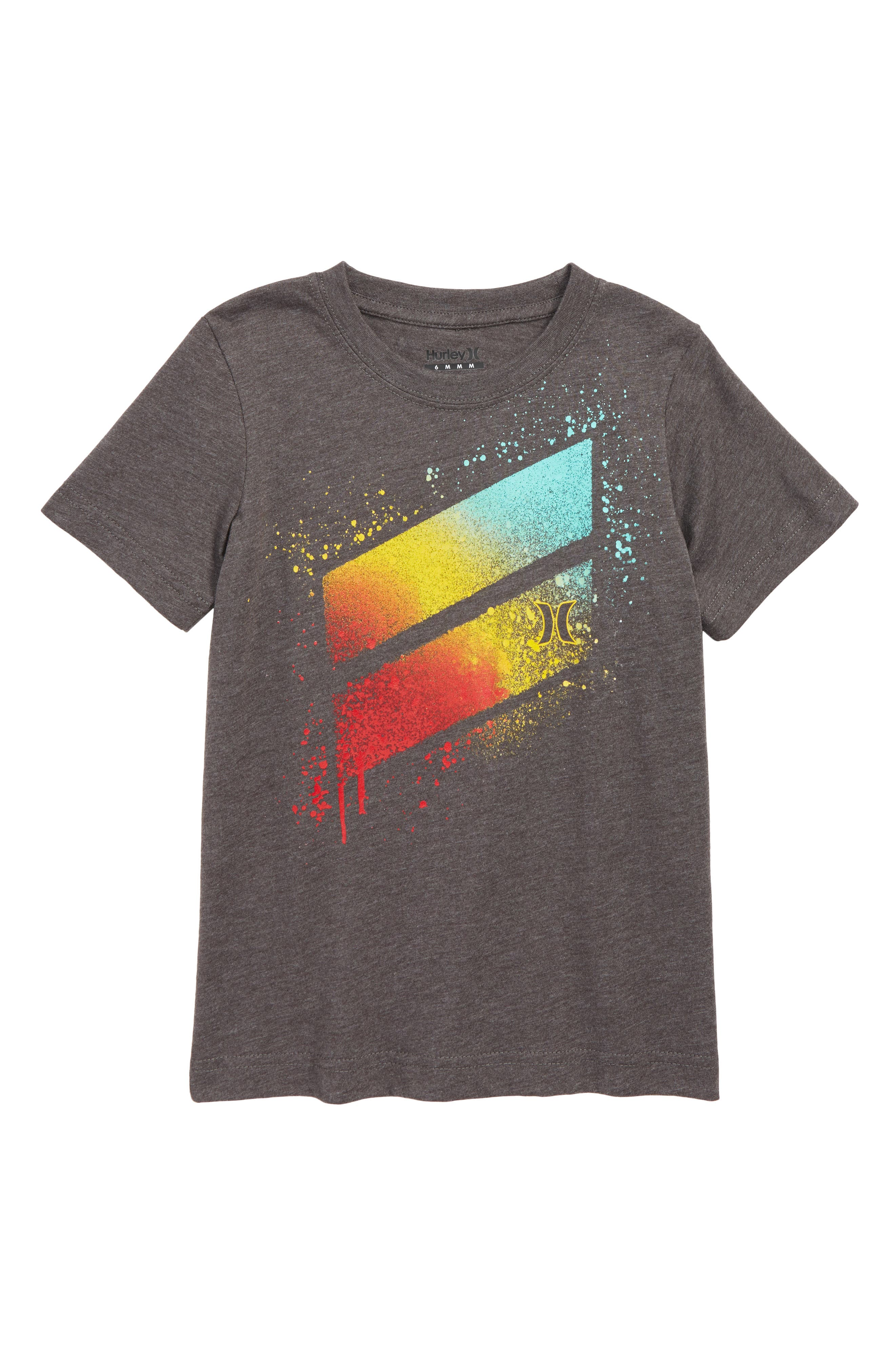 Spray Splash Graphic T-Shirt,                         Main,                         color, BLACK
