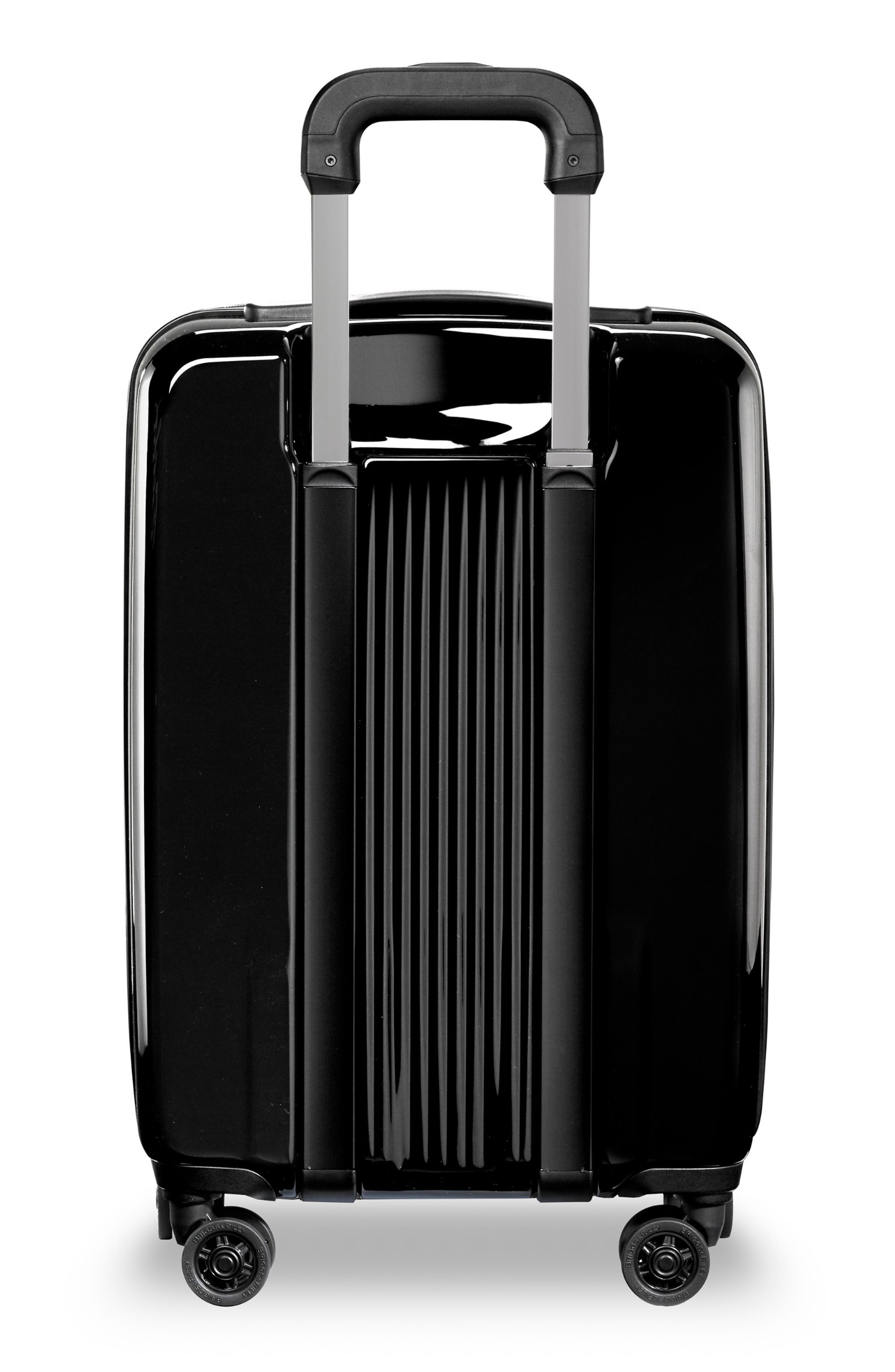 22-Inch Domestic Expandable Spinner Wheeled Carry-On,                             Alternate thumbnail 4, color,                             ONYX GLOSS