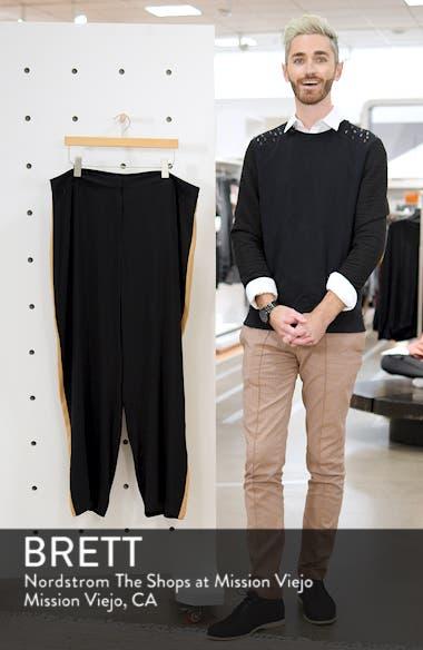 High Rise Side Stripe Silk Pants, sales video thumbnail