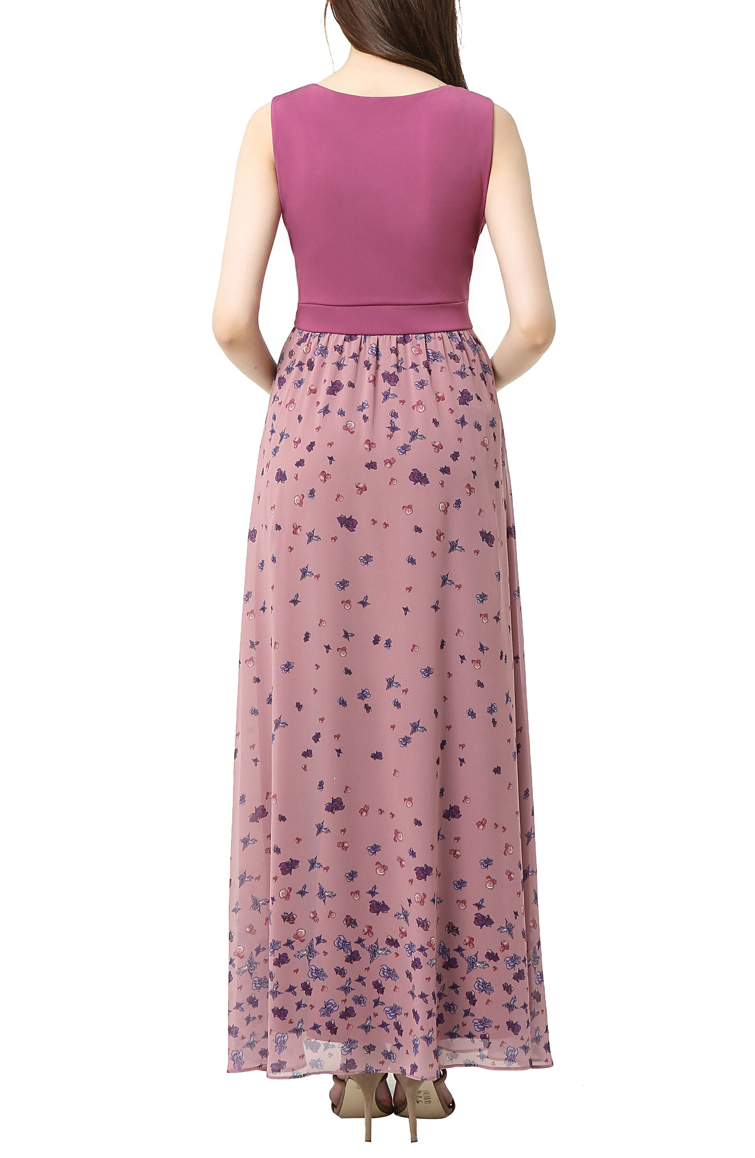 Armanda Maternity Maxi Dress,                             Alternate thumbnail 2, color,                             ROSE PINK