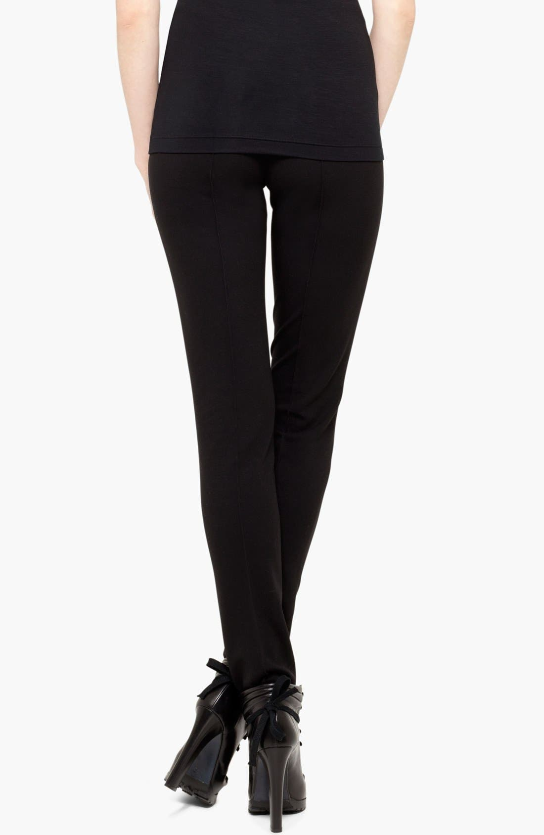 AKRIS PUNTO,                             Stretch Jersey Pants,                             Alternate thumbnail 9, color,                             BLACK