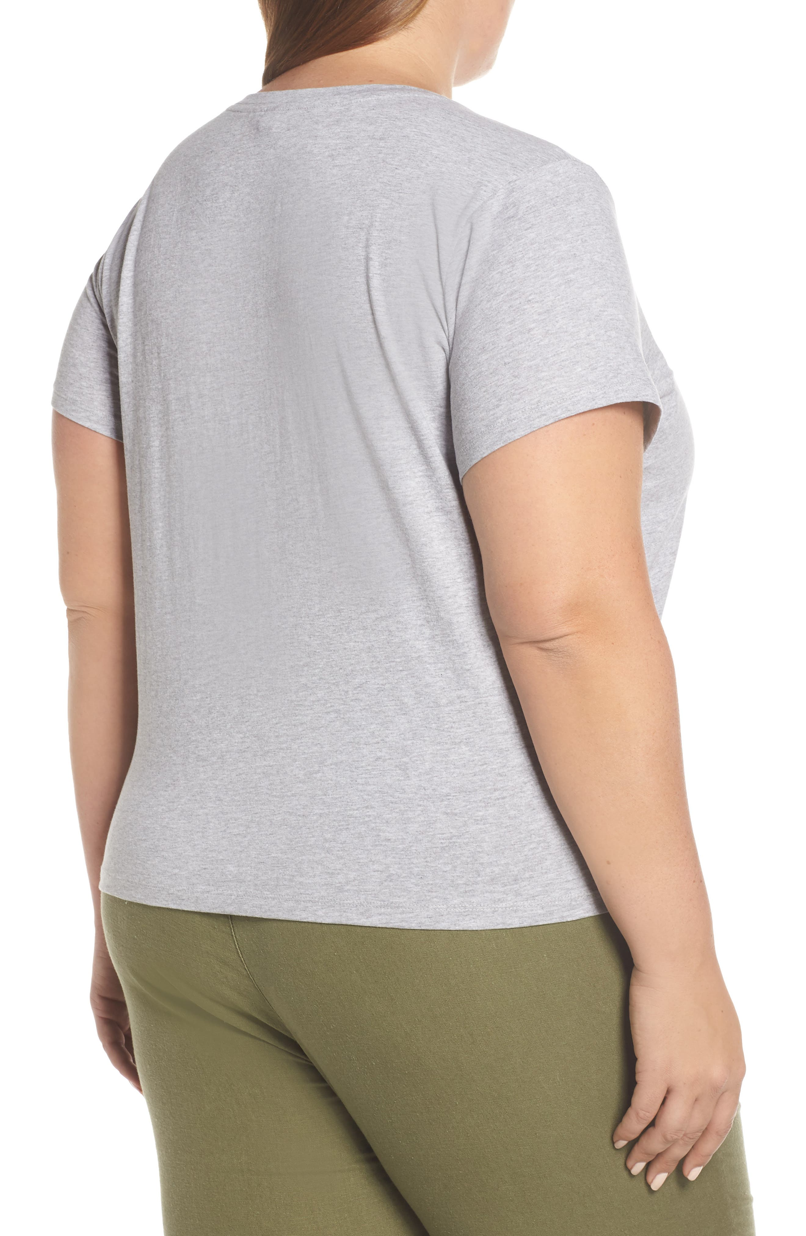 Pocket Crewneck Tee,                             Alternate thumbnail 2, color,                             GREY PEARL HEATHER