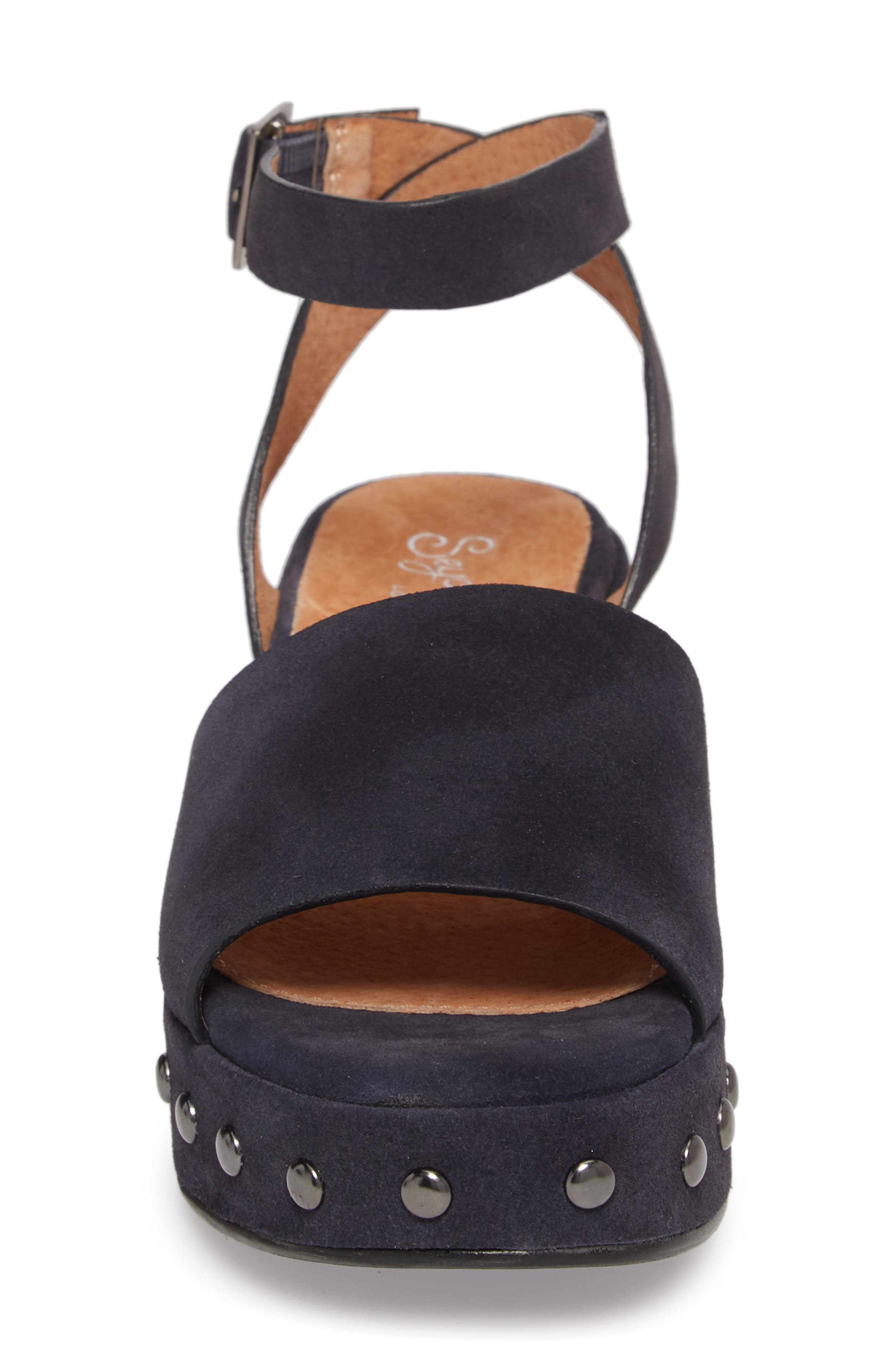 Spare Moments Sandal,                             Alternate thumbnail 4, color,                             NAVY SUEDE