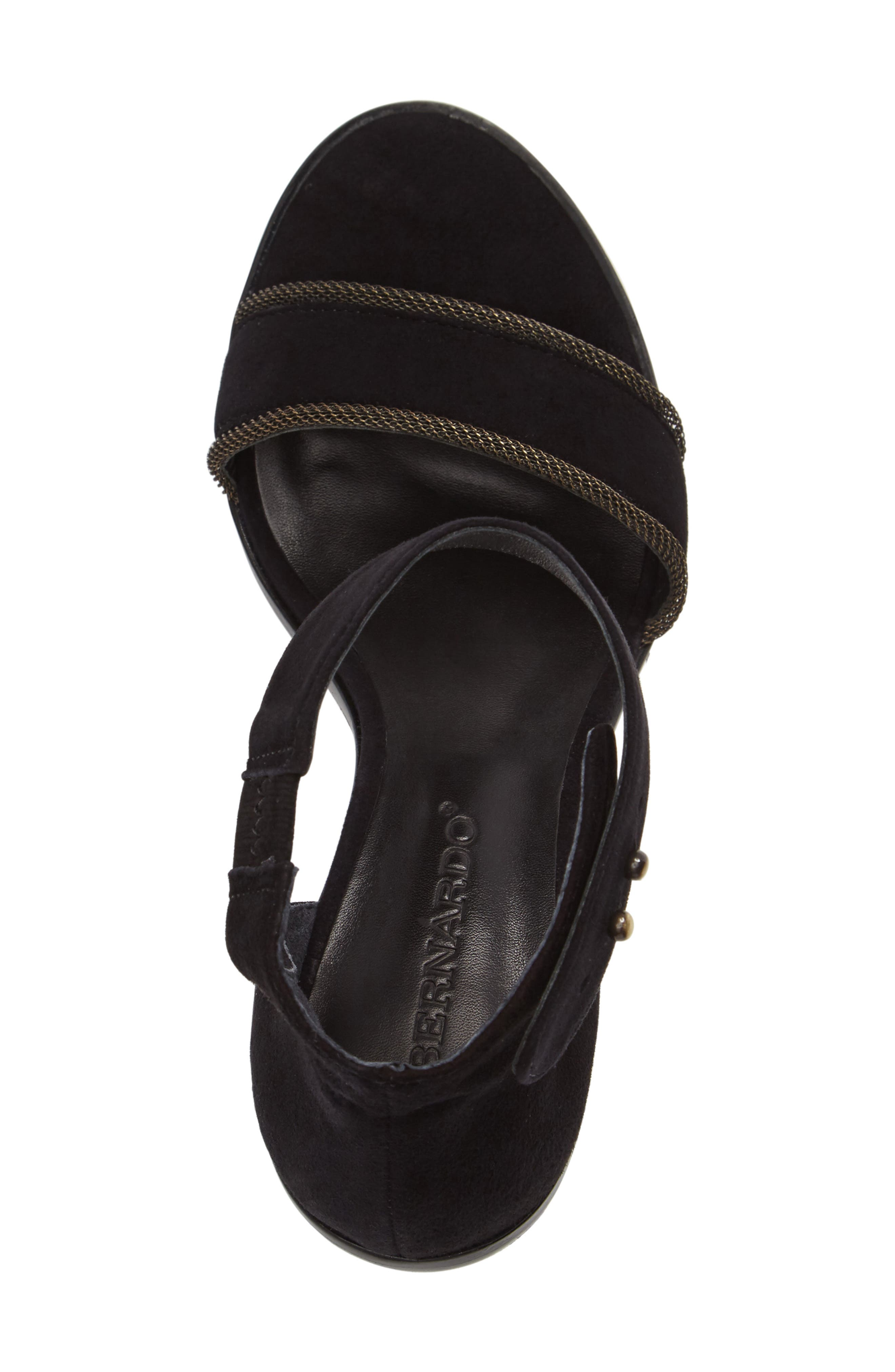 Bernardo Hayden Ankle Strap Sandal,                             Alternate thumbnail 3, color,                             001