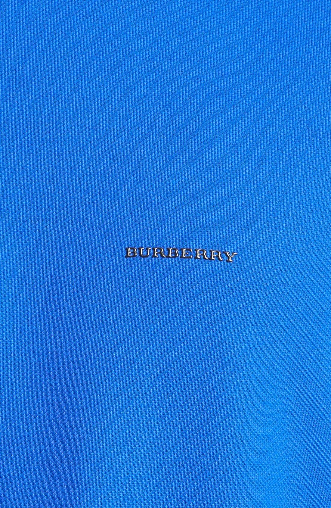 London 'Adler' Check Placket Cotton Polo,                             Alternate thumbnail 3, color,                             431