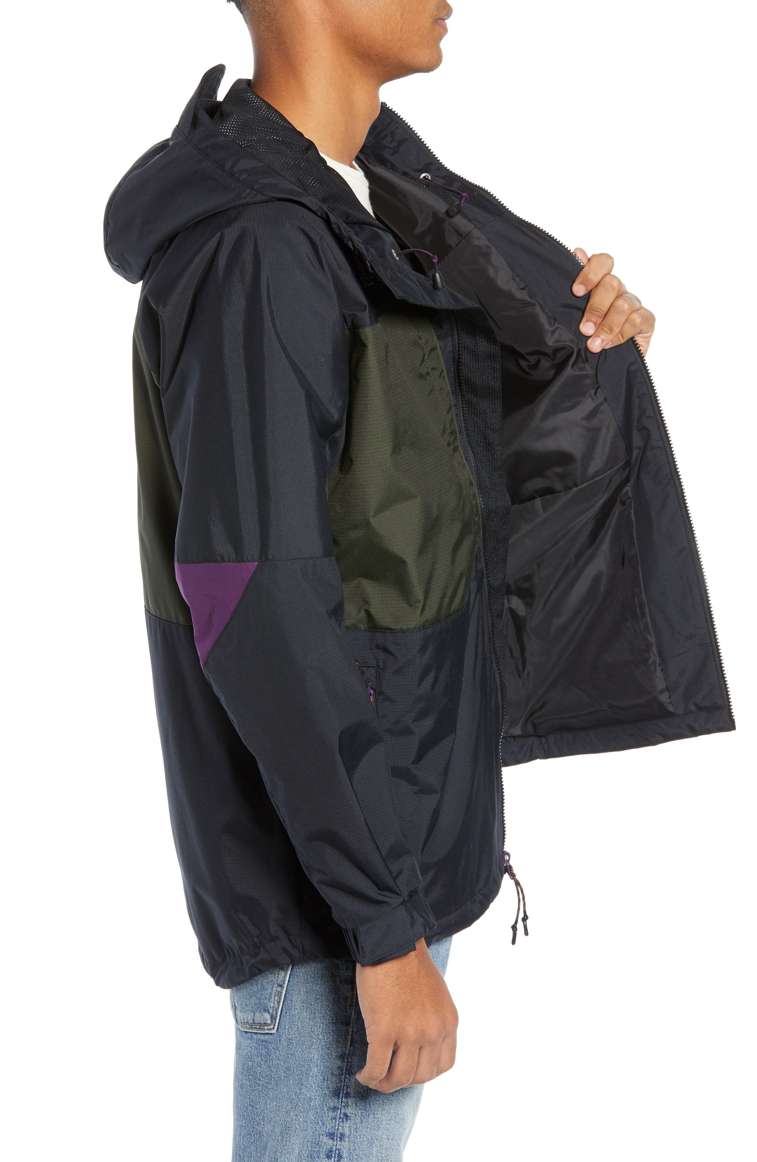 ACG Men's Anorak Jacket,                             Alternate thumbnail 3, color,                             BLACK/ SEQUOIA/ BLACK