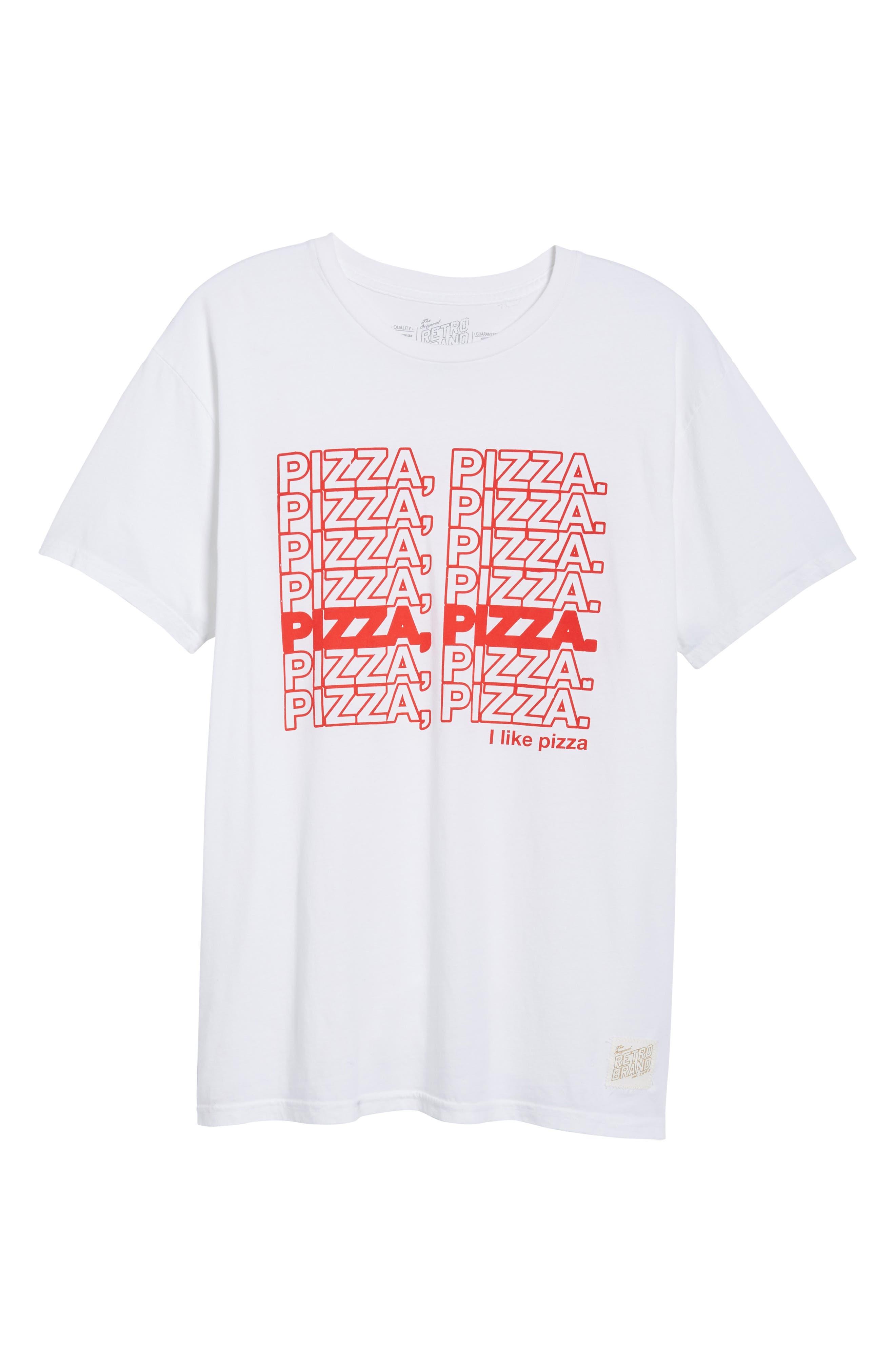 Pizza Pizza Graphic T-Shirt,                             Alternate thumbnail 6, color,                             101