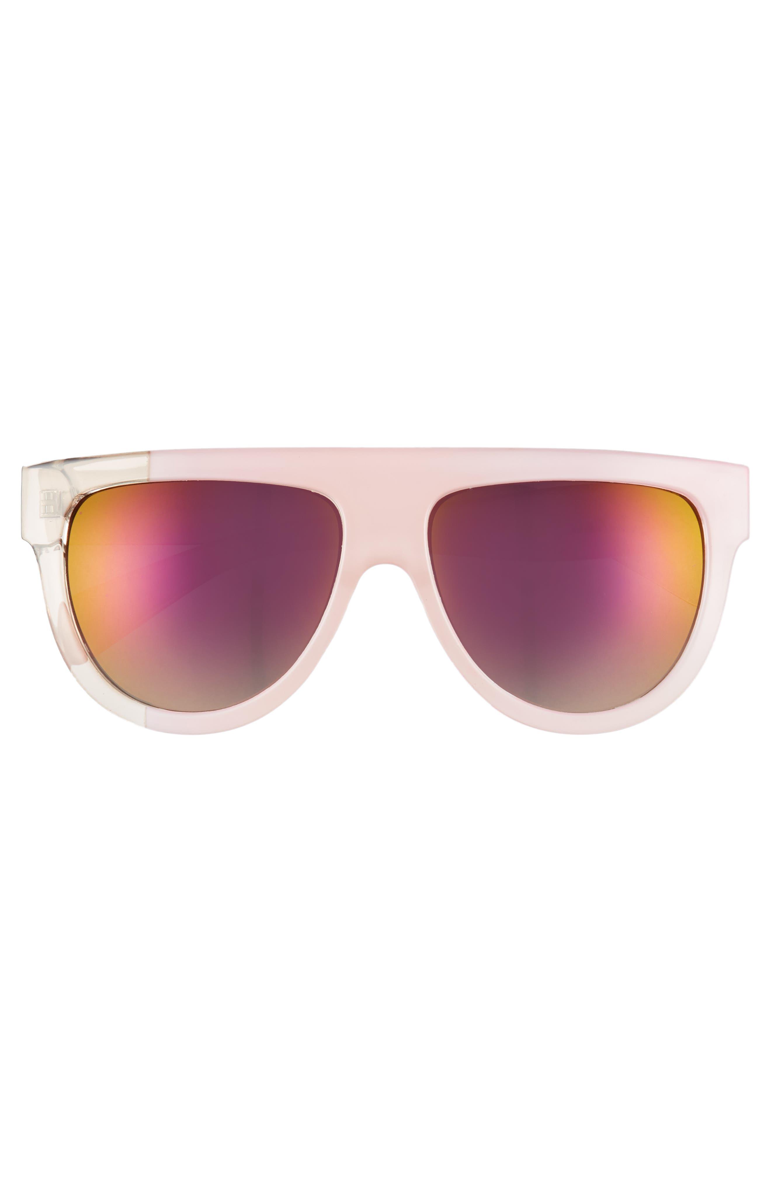 68mm Flat Top Sunglasses,                             Alternate thumbnail 6, color,