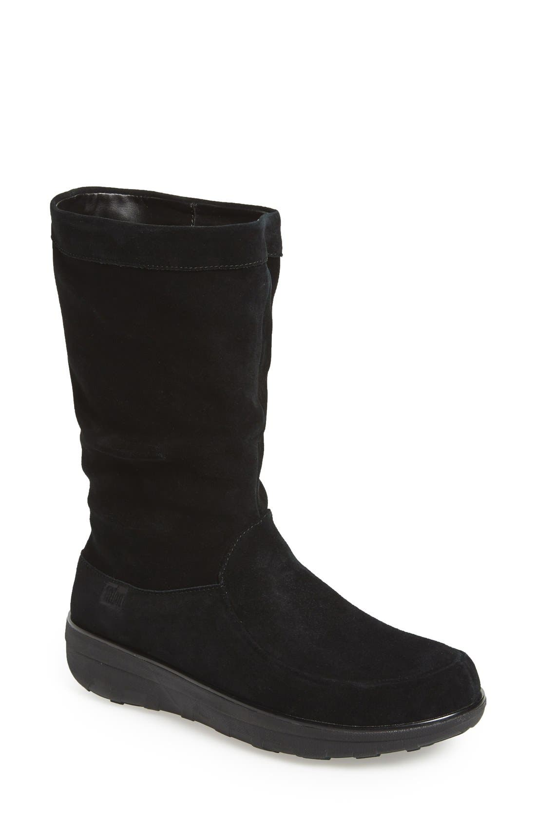 'Loaff' Slouchy Boot,                             Main thumbnail 1, color,                             001