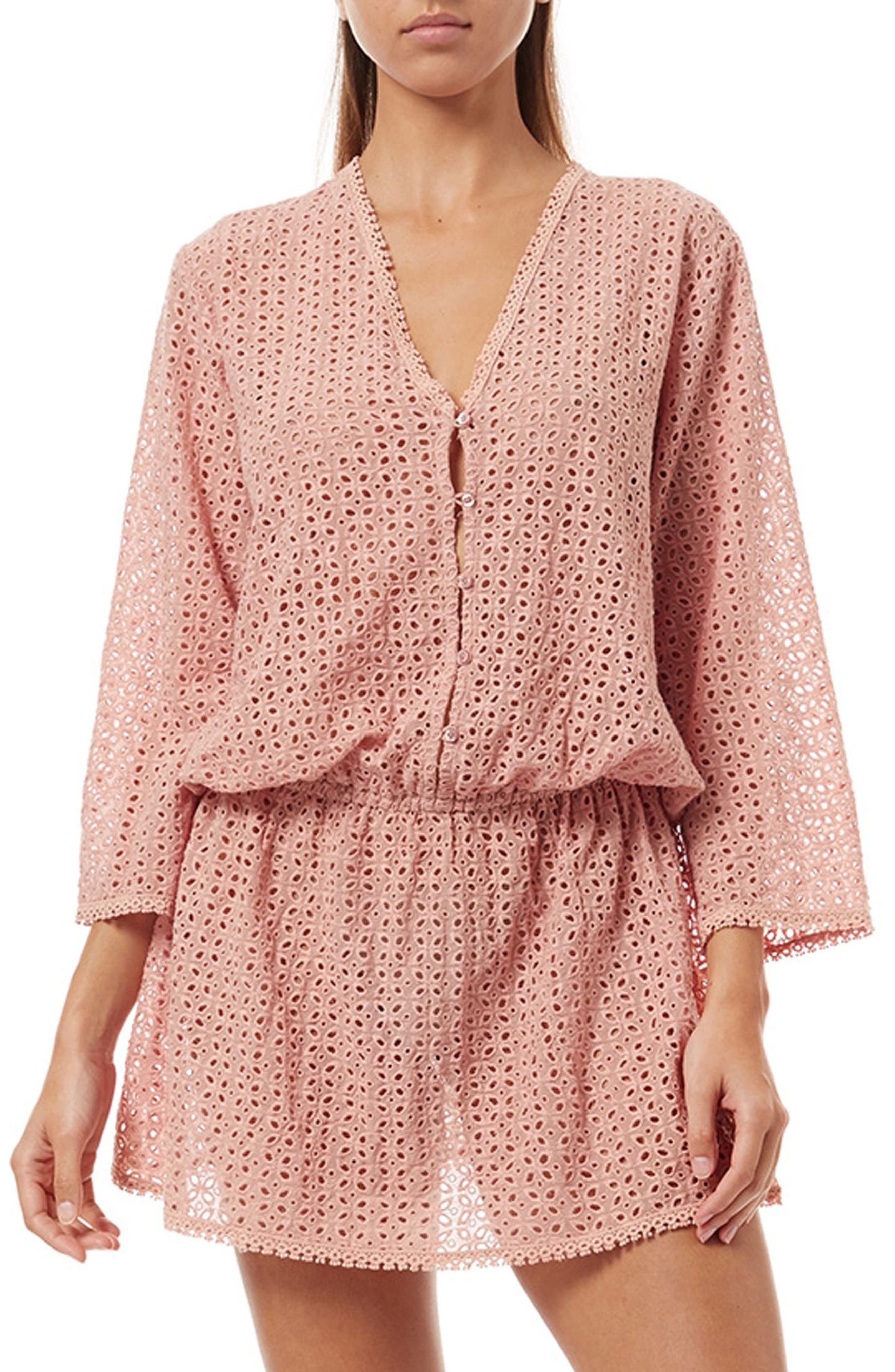 Kylie Cover-Up Dress,                         Main,                         color, DUSTY ROSE