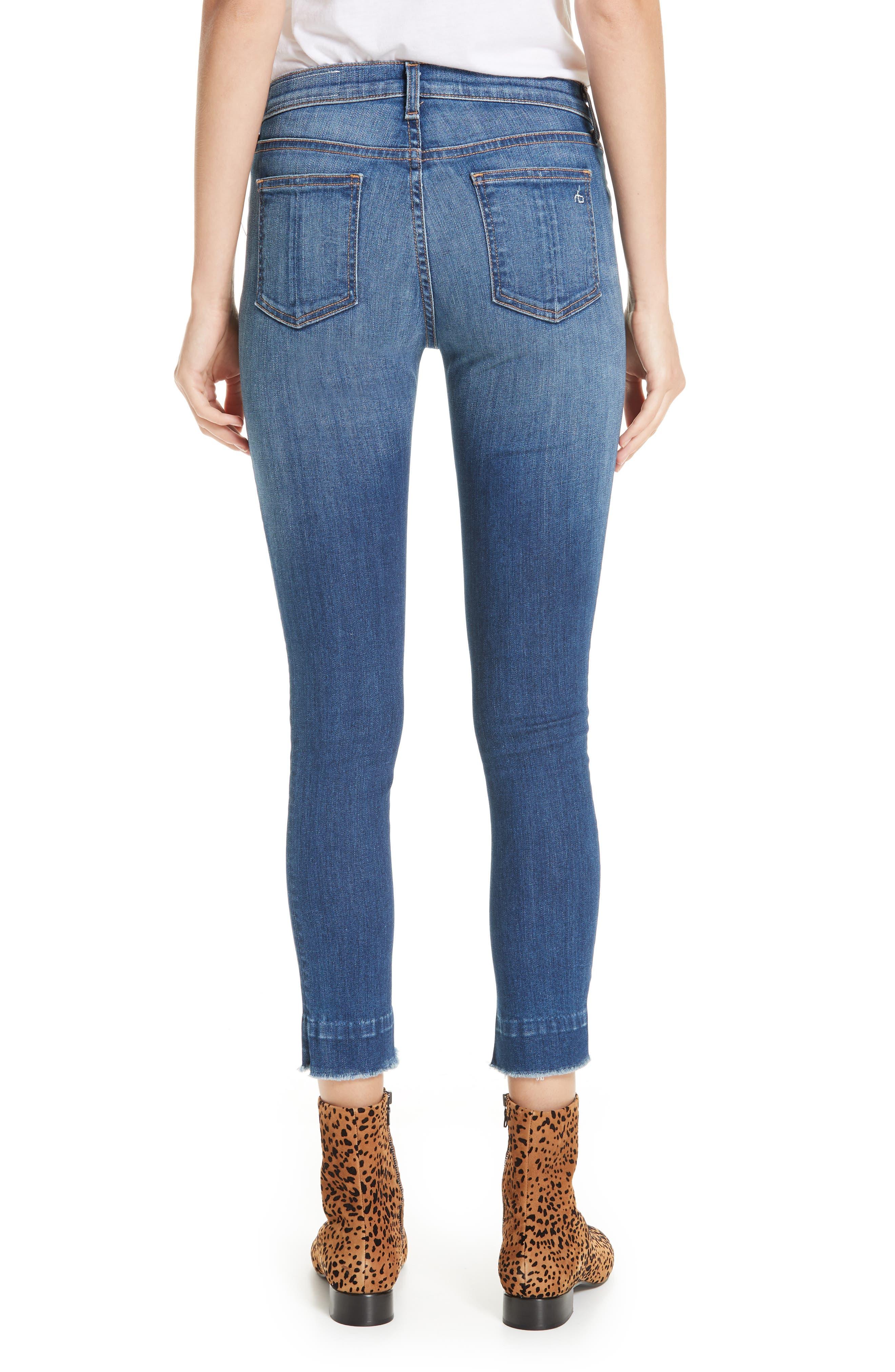 Raw Hem Ankle Skinny Jeans,                             Alternate thumbnail 2, color,                             BLAIR