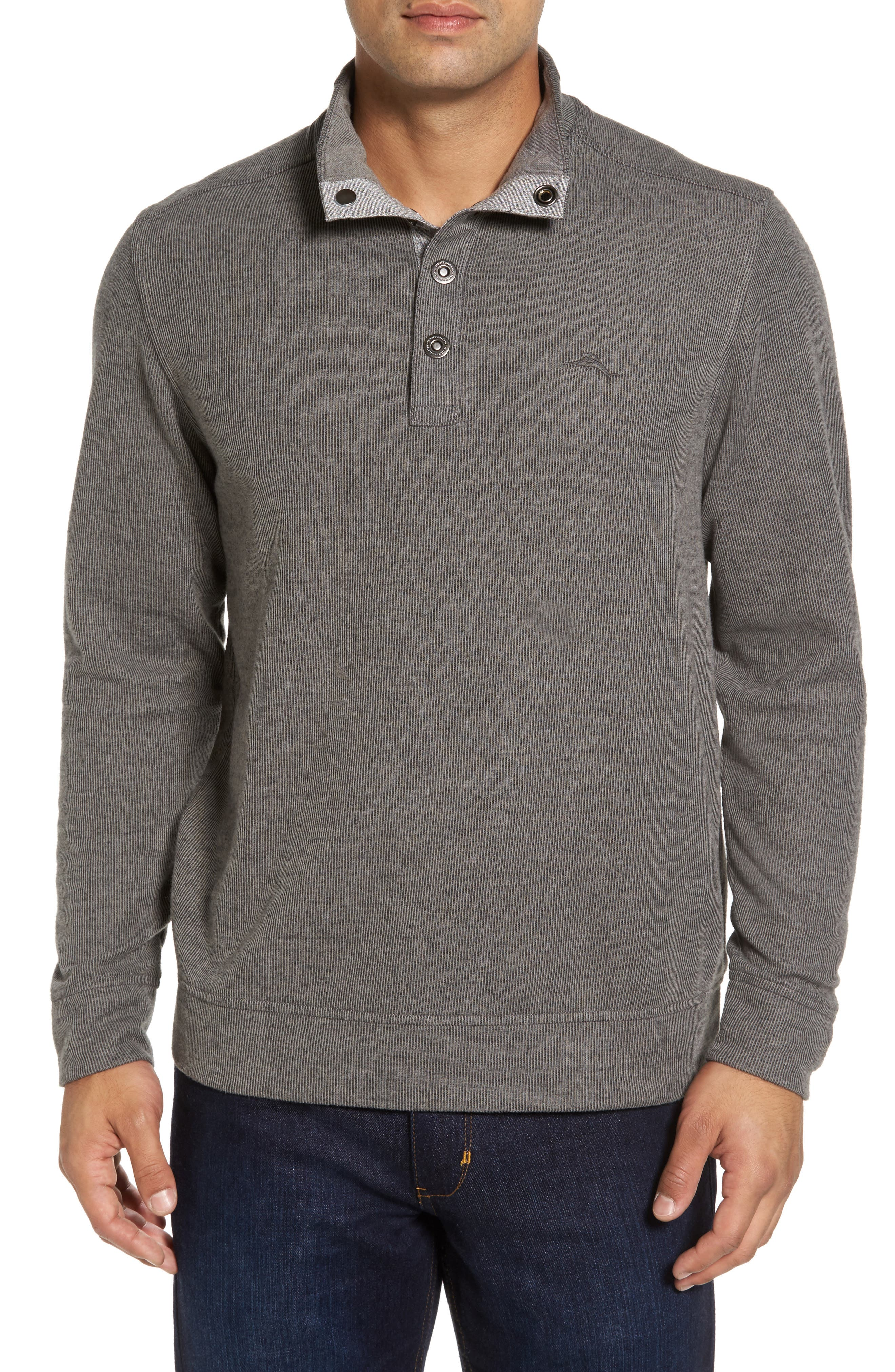 Cold Springs Snap Mock Neck Sweater,                         Main,                         color, 001