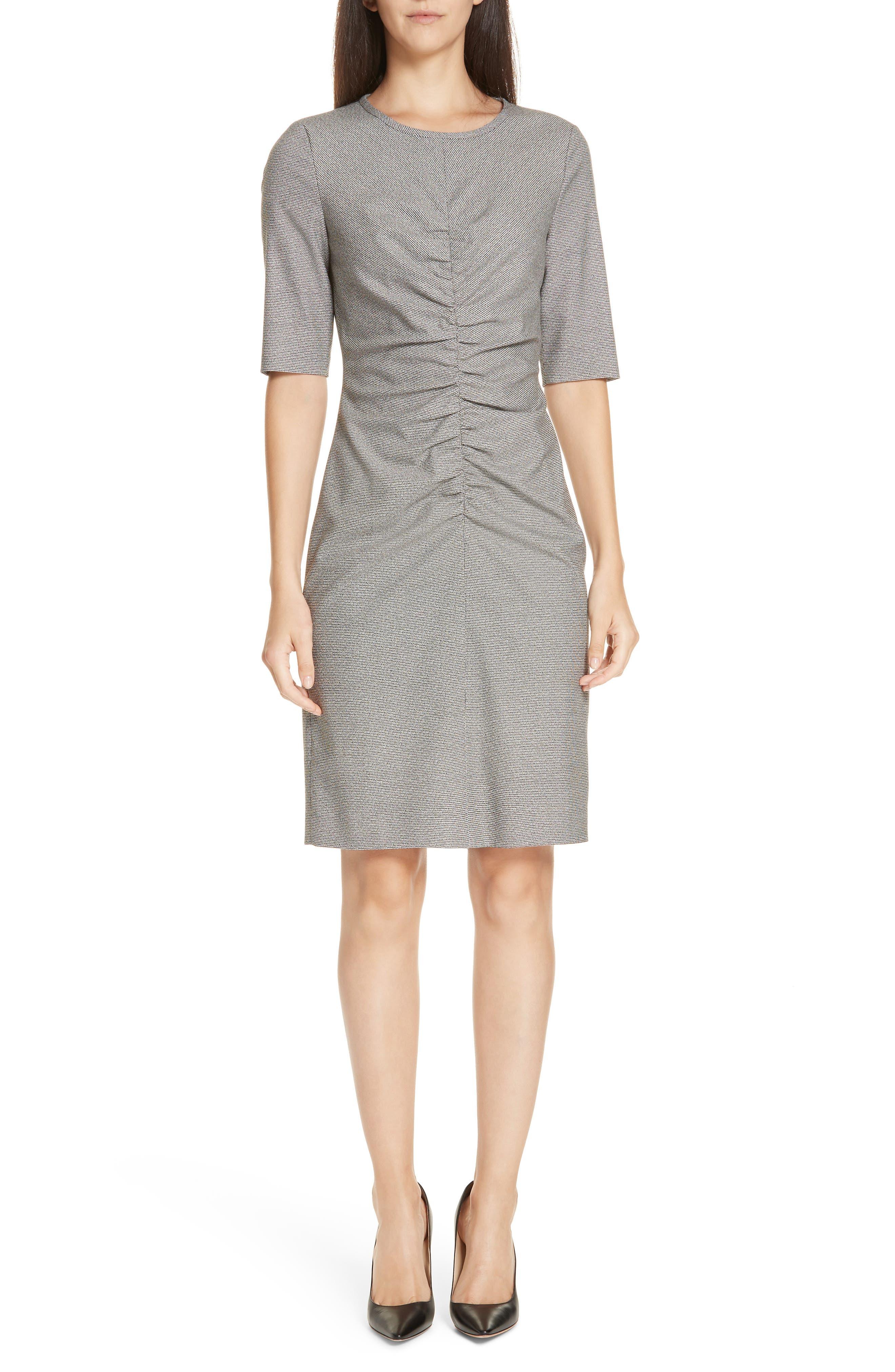 Dirafia Blurred Optic Dress,                         Main,                         color, BLACK FANTASY