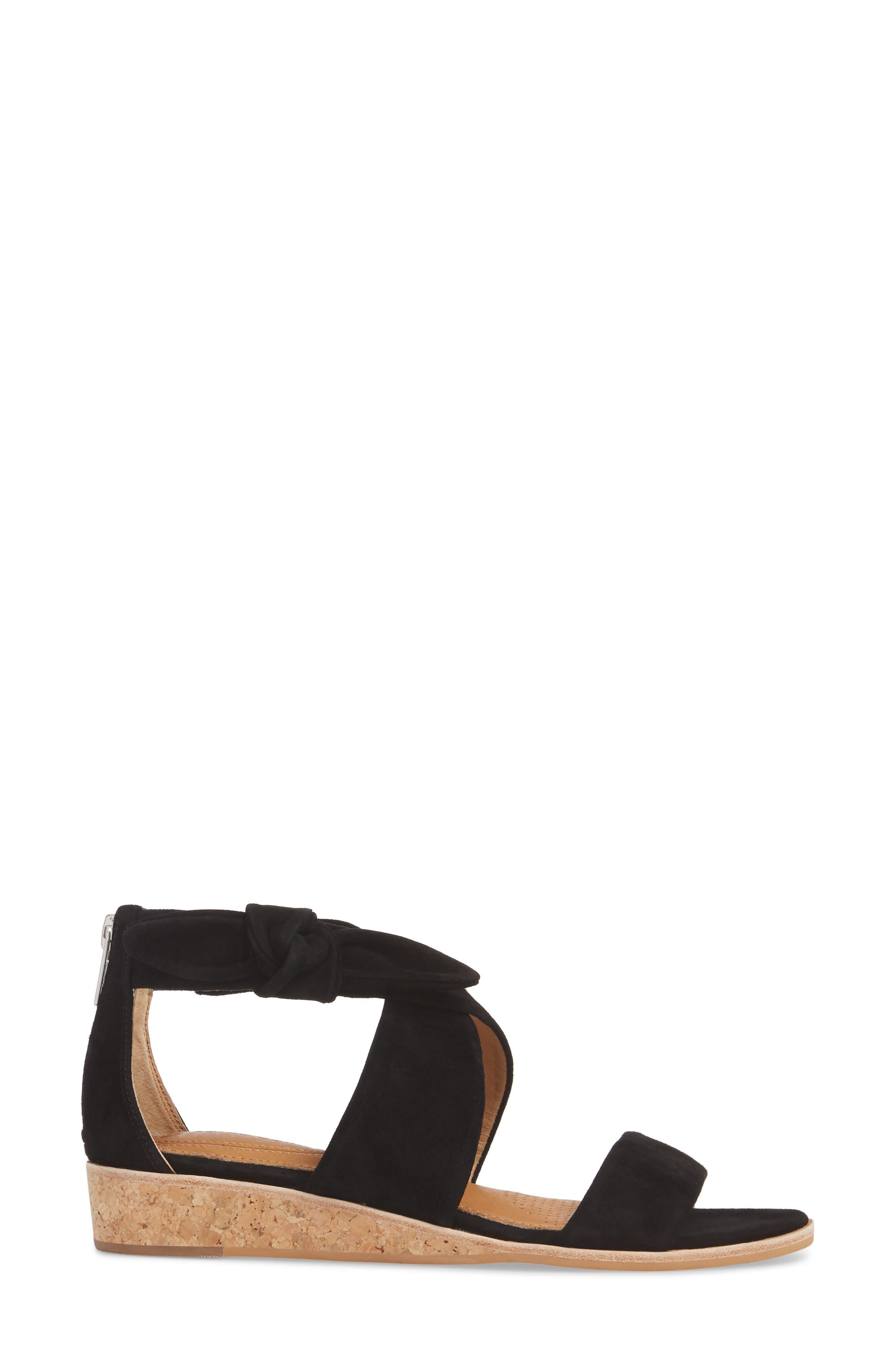 Rasque Sandal,                             Alternate thumbnail 3, color,                             BLACK LEATHER
