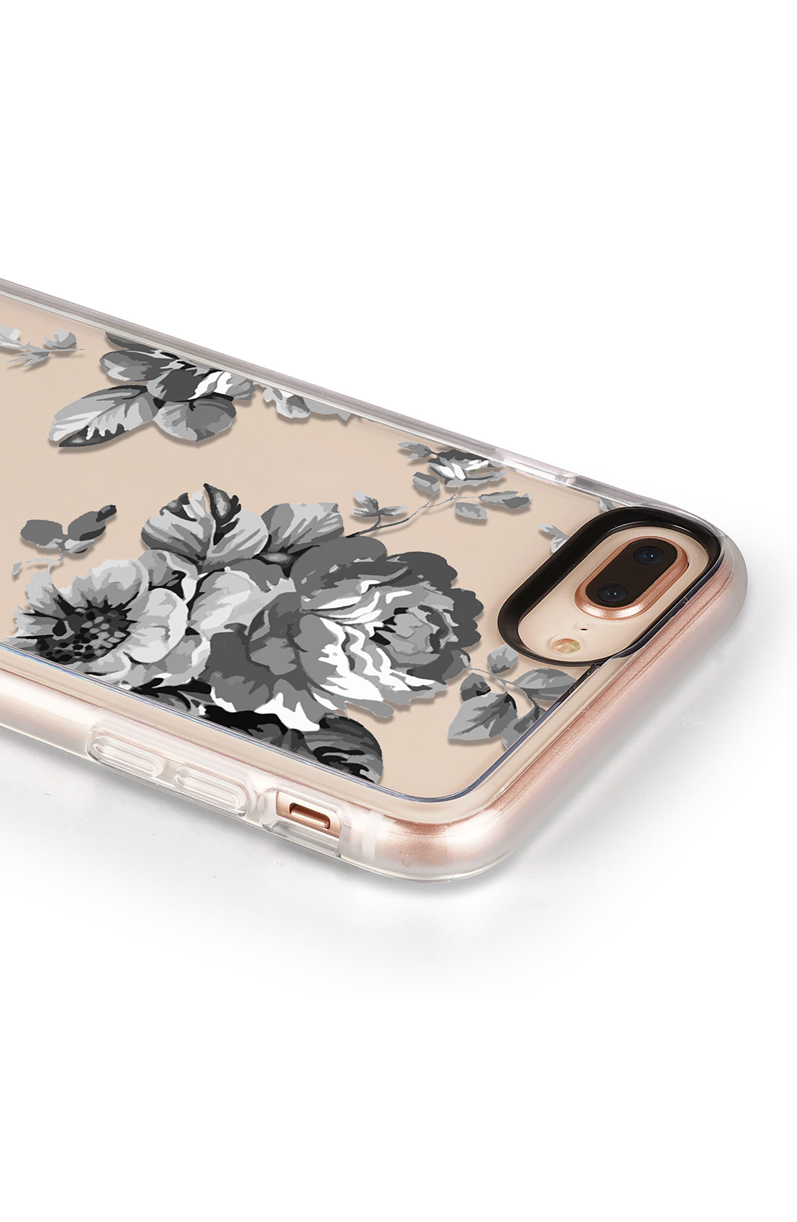 Black Floral iPhone 7/8 & 7/8 Plus Case,                             Alternate thumbnail 5, color,                             020