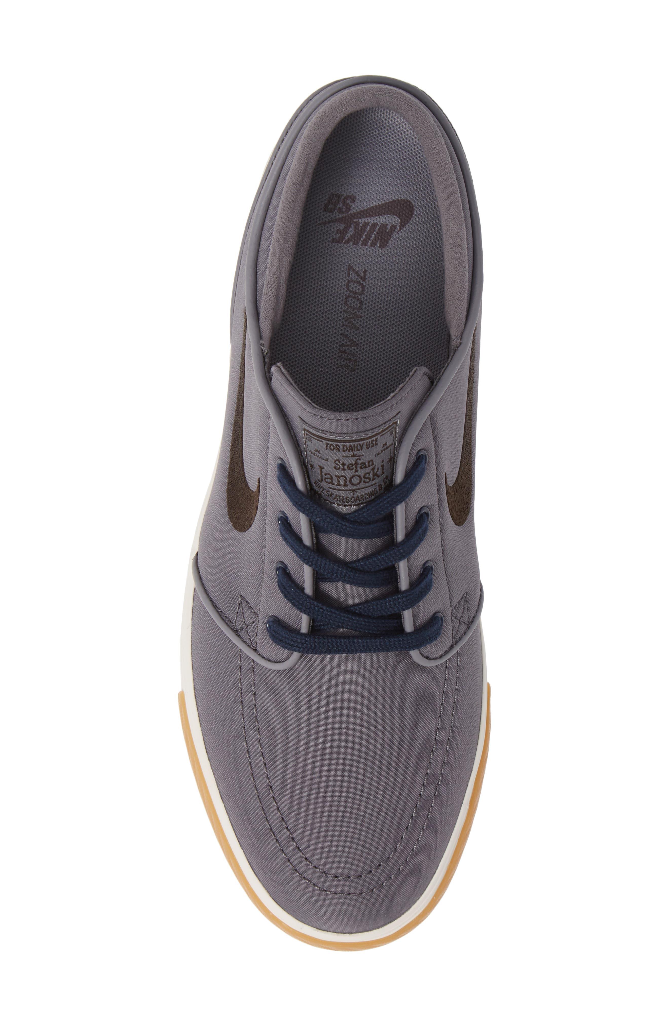 Zoom - Stefan Janoski SB Canvas Skate Shoe,                             Alternate thumbnail 5, color,                             025