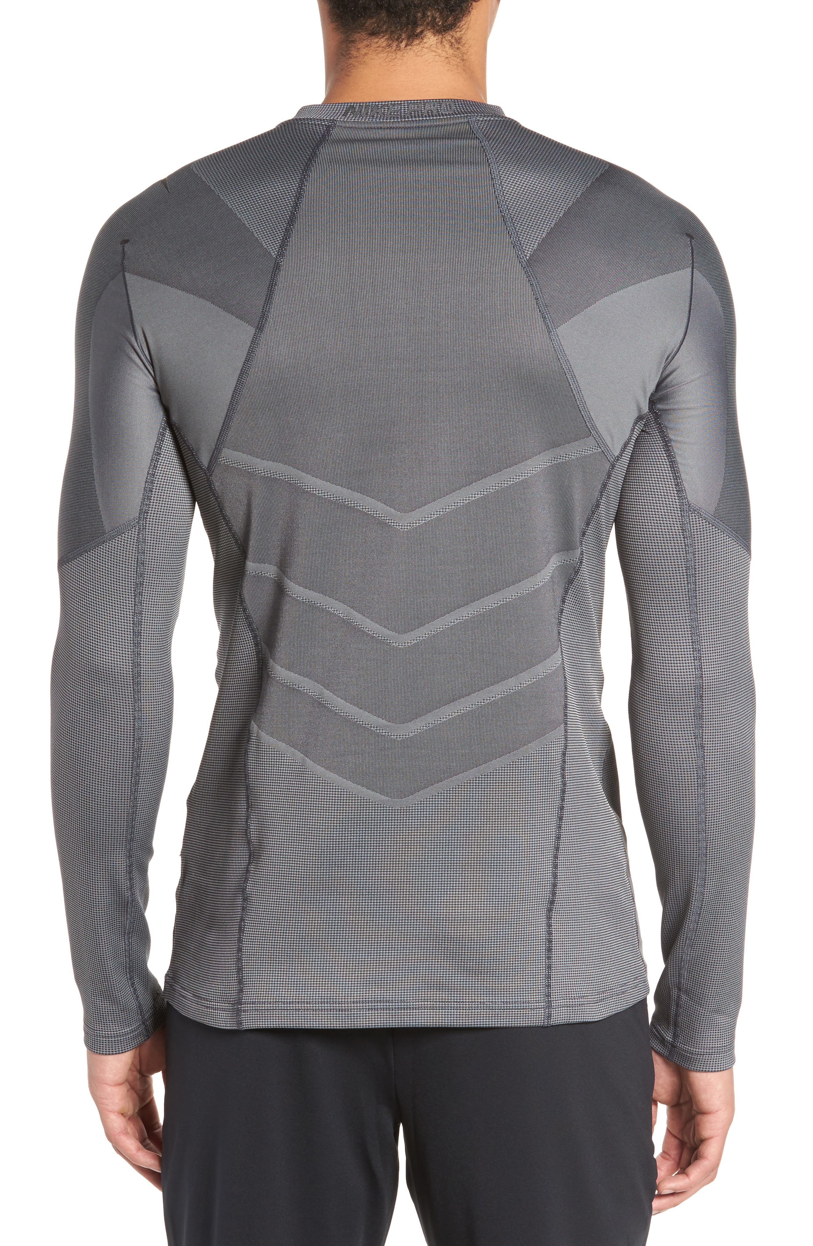 Pro AeroLoft Long Sleeve Fitted T-Shirt,                             Alternate thumbnail 2, color,                             010