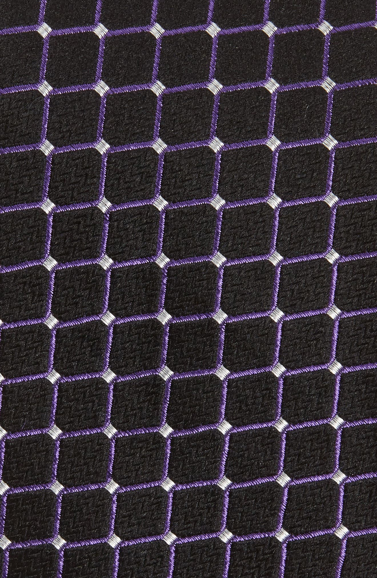 Check Silk Tie,                             Alternate thumbnail 2, color,                             001