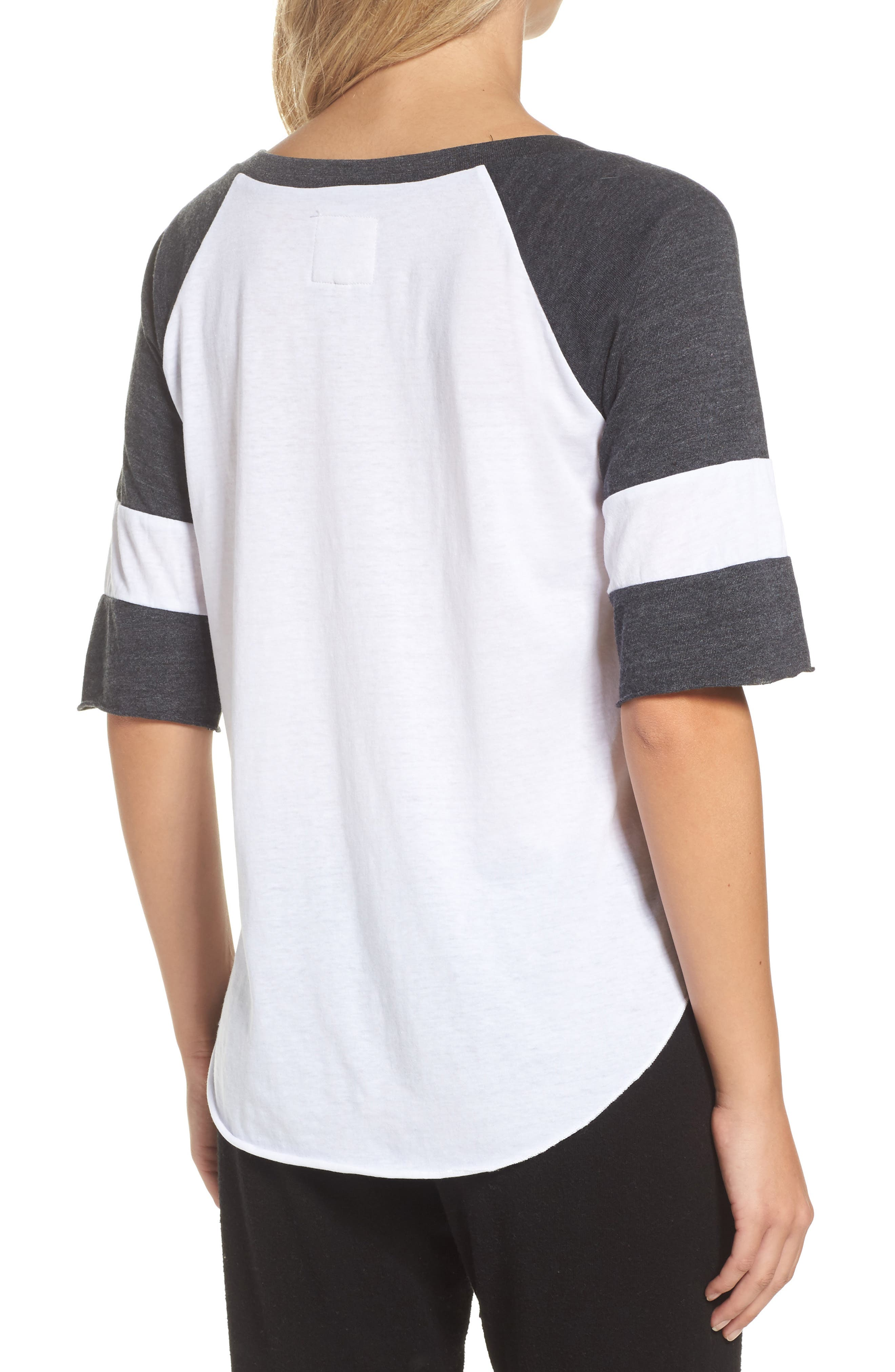 Colorblock Jersey Tee,                             Alternate thumbnail 2, color,                             100