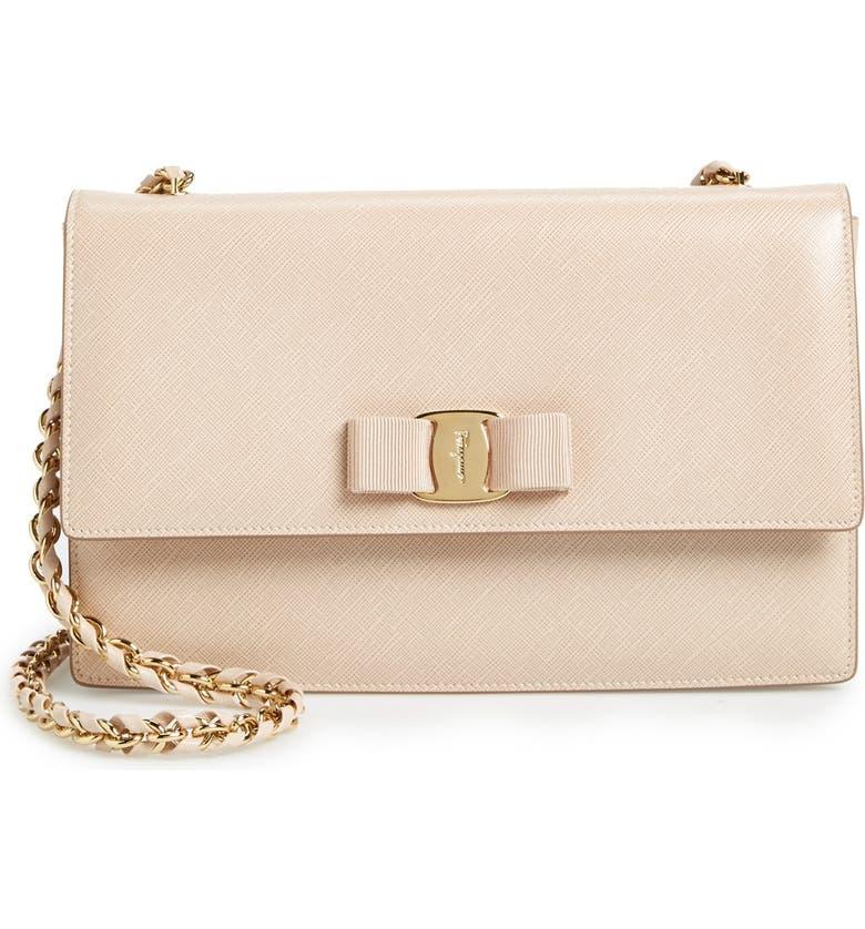 fe7762d5ac22 Salvatore Ferragamo Saffiano Leather Shoulder Bag