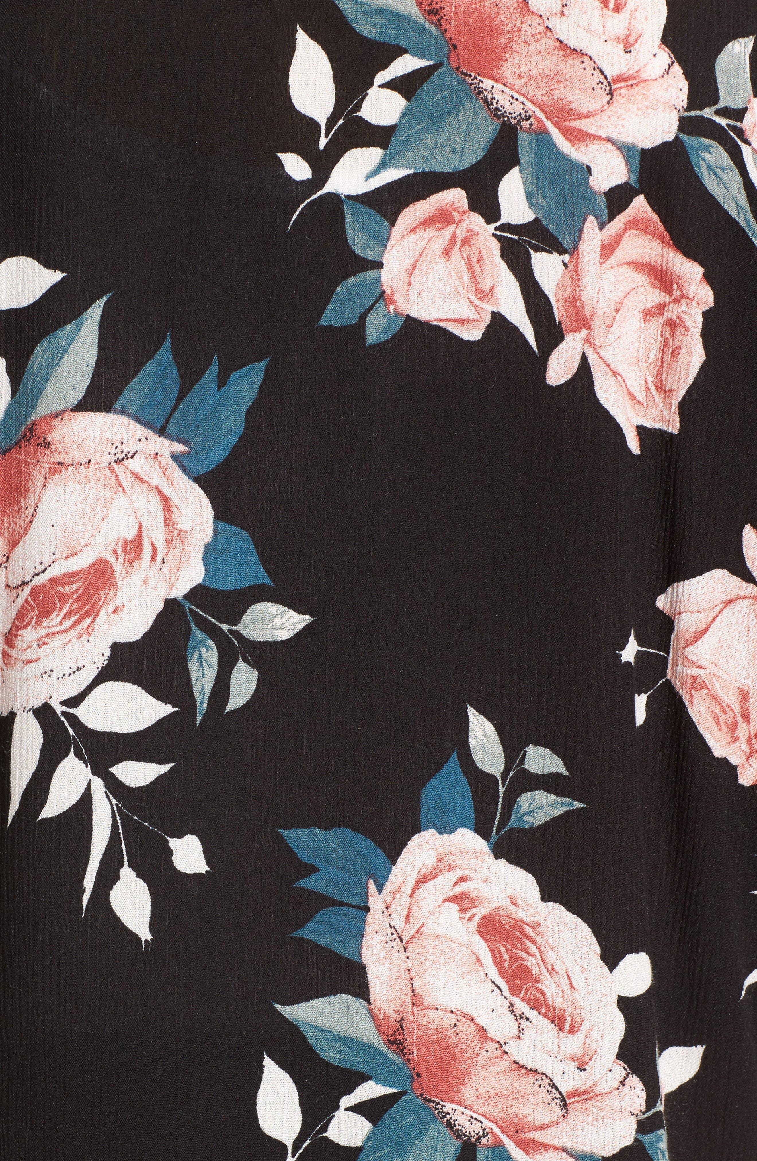 Rose Print Kimono,                             Alternate thumbnail 6, color,