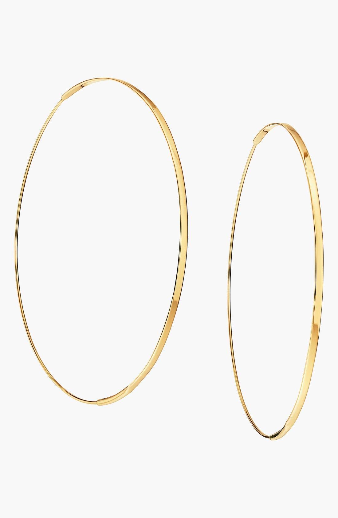 'Large Flat Magic' Hoop Earrings,                             Main thumbnail 1, color,                             YELLOW GOLD