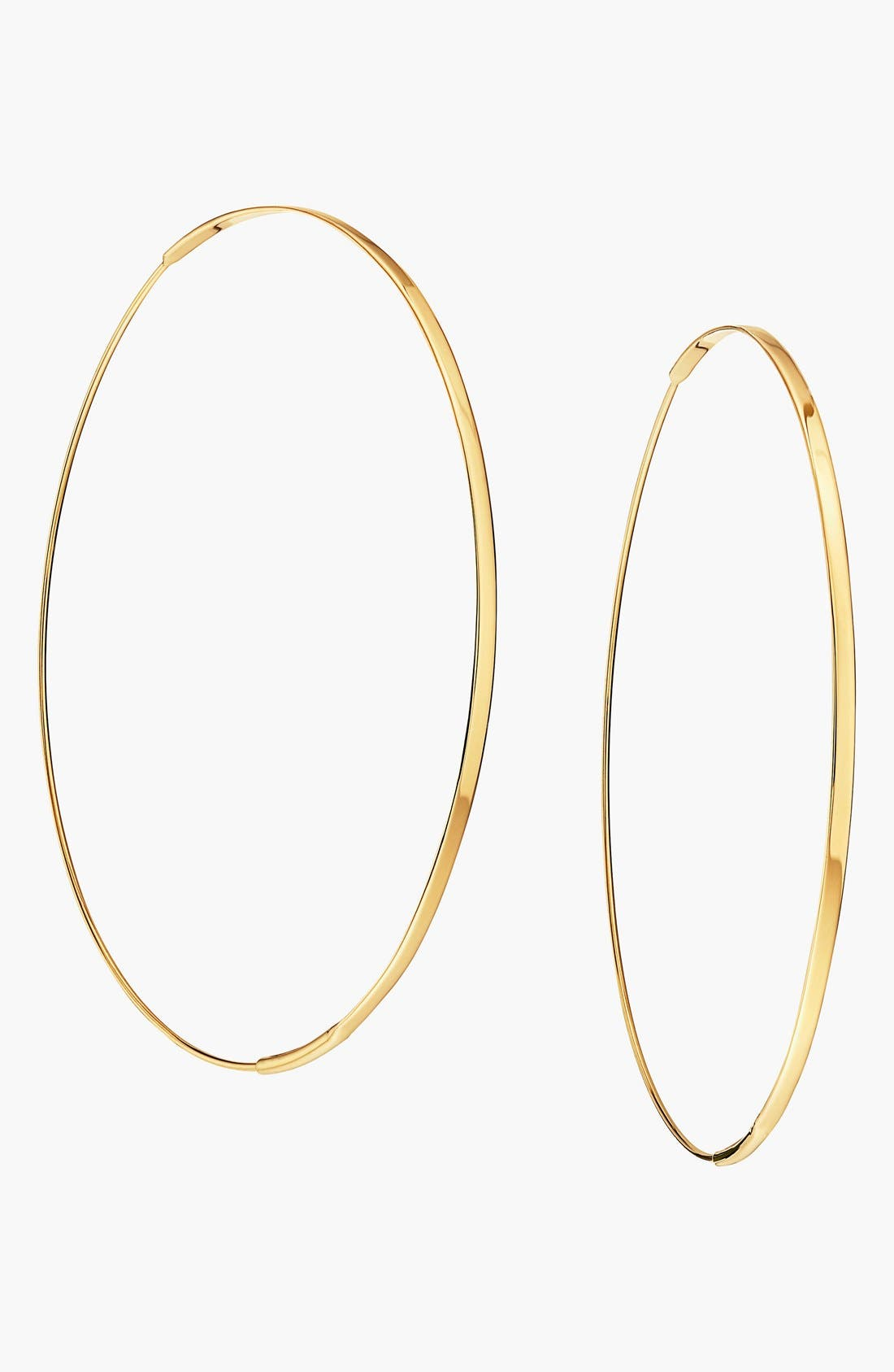 'Large Flat Magic' Hoop Earrings,                         Main,                         color, YELLOW GOLD
