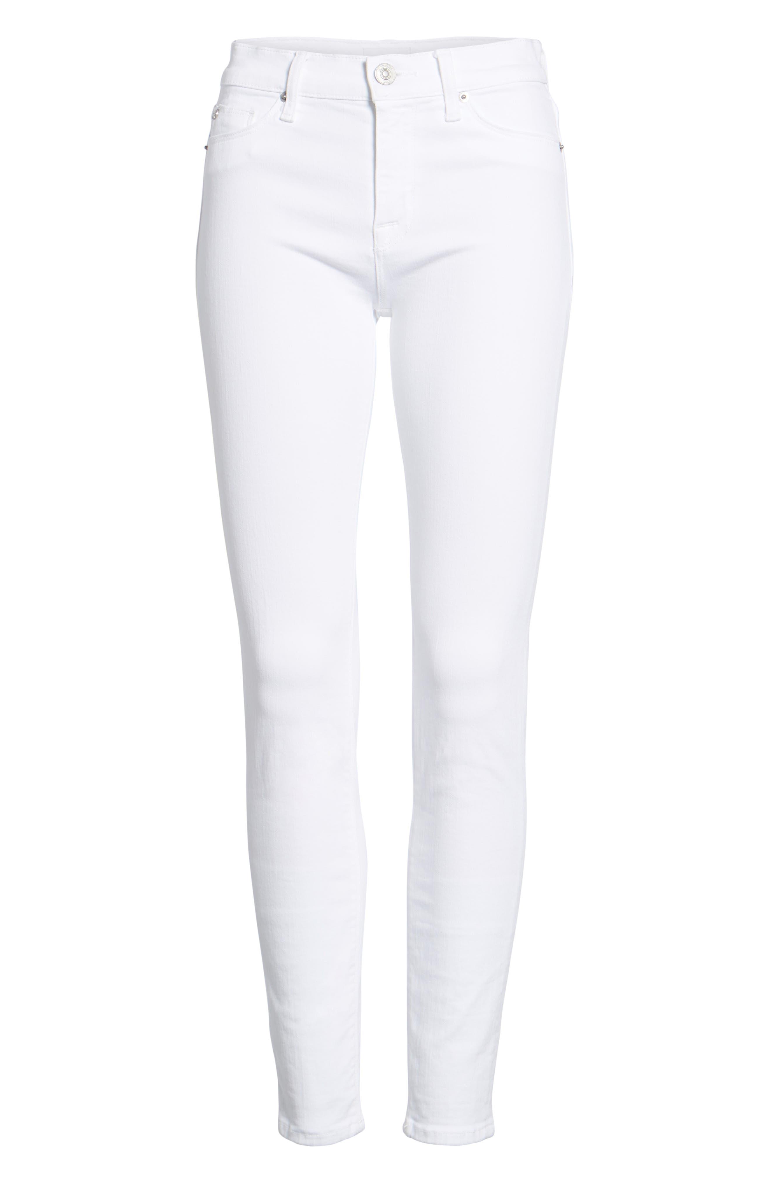 Nico Ankle Super Skinny Jeans,                             Alternate thumbnail 7, color,                             OPTICAL WHITE