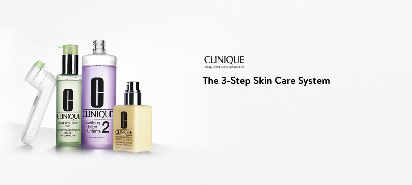 Clinique 3-step skin care system.