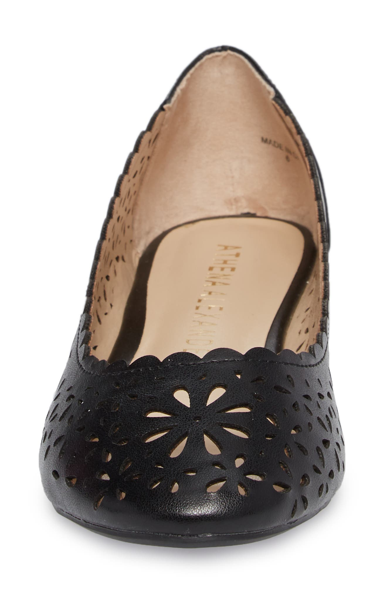 Annora Perforated Flat,                             Alternate thumbnail 4, color,                             001