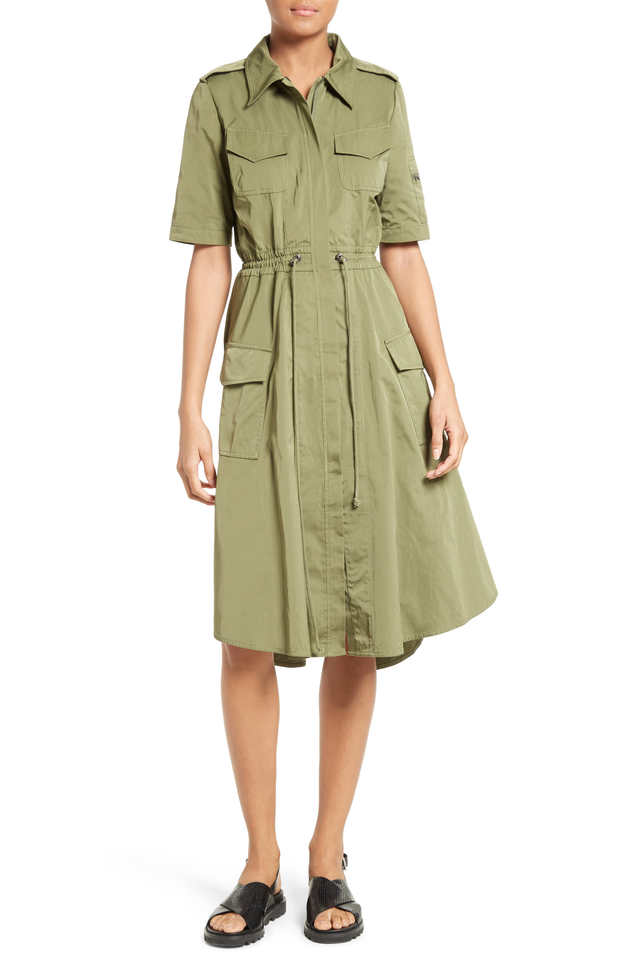 Tech Taffeta Shirtdress,                             Main thumbnail 1, color,                             310